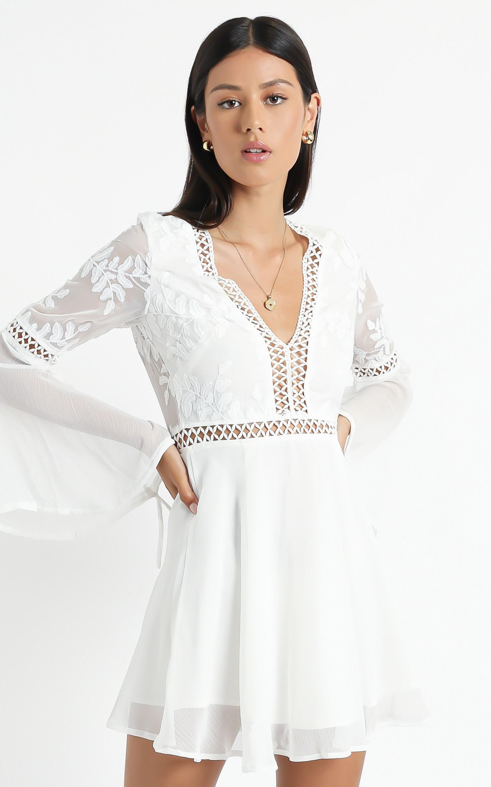 Stop Pretending dress in white - 12 (L), White, hi-res image number null