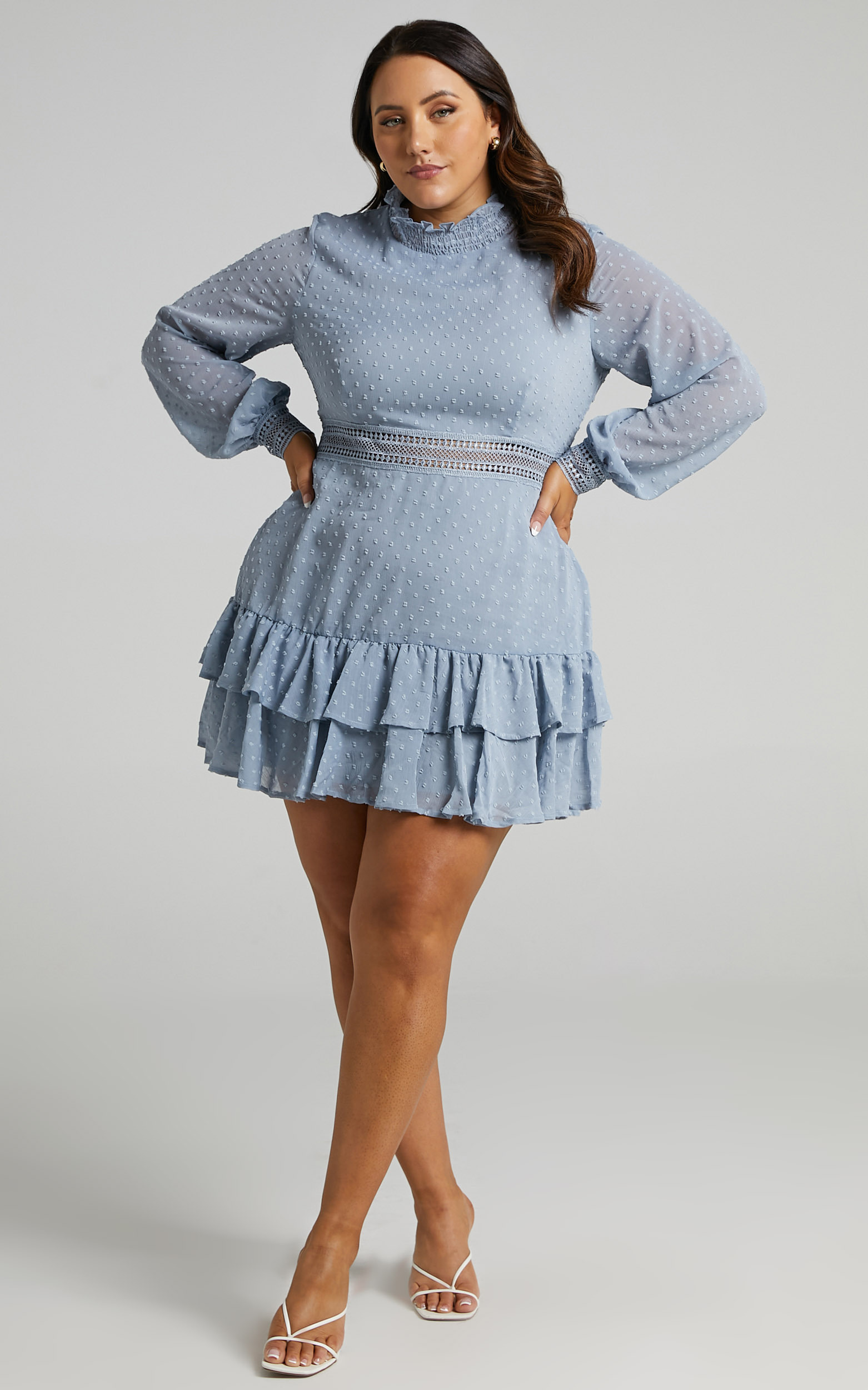 Are You Gonna Kiss Me Dress in Dusty Blue - 20, BLU3, hi-res image number null