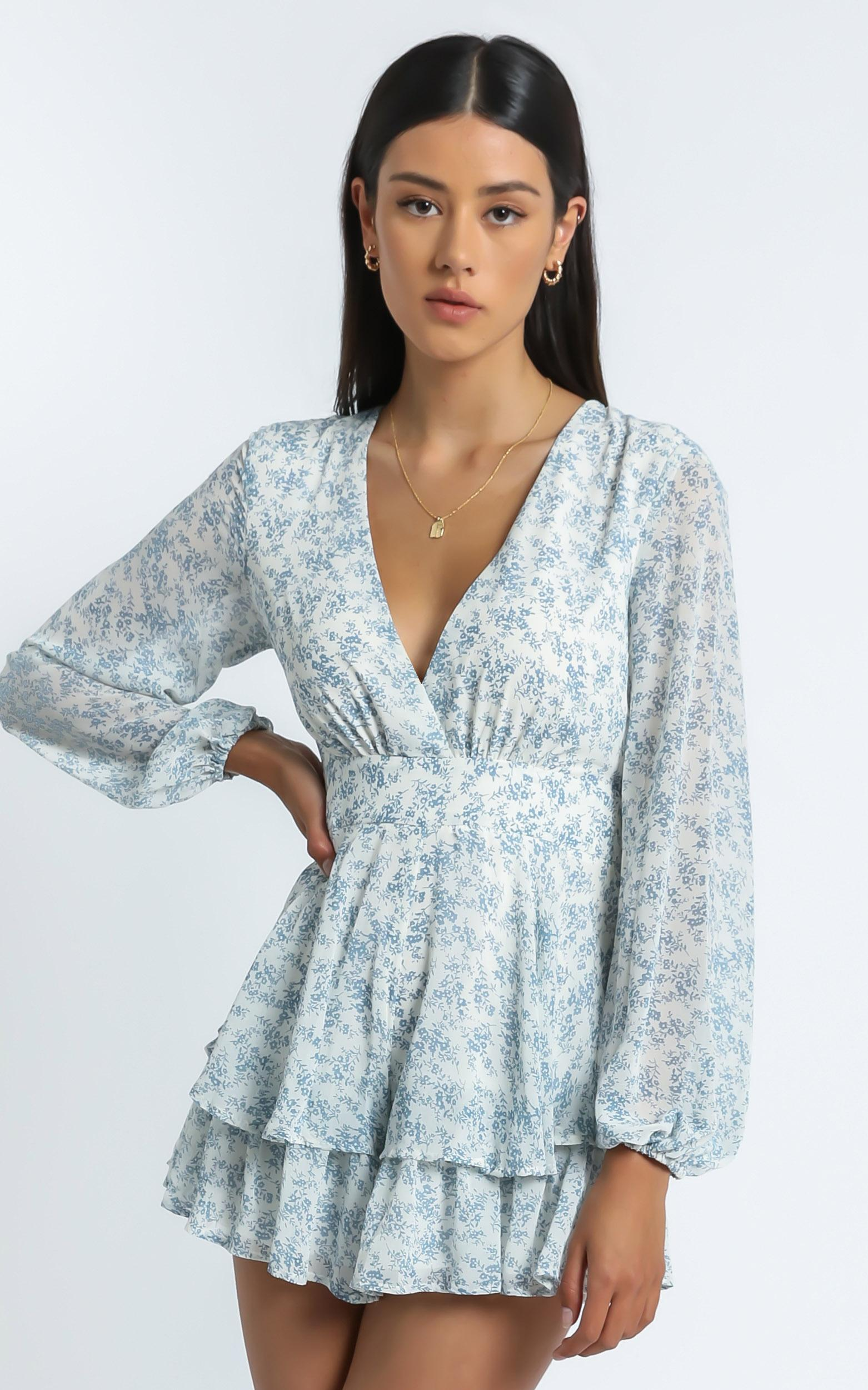 Monique Playsuit in Blue - 6 (XS), BLU1, hi-res image number null