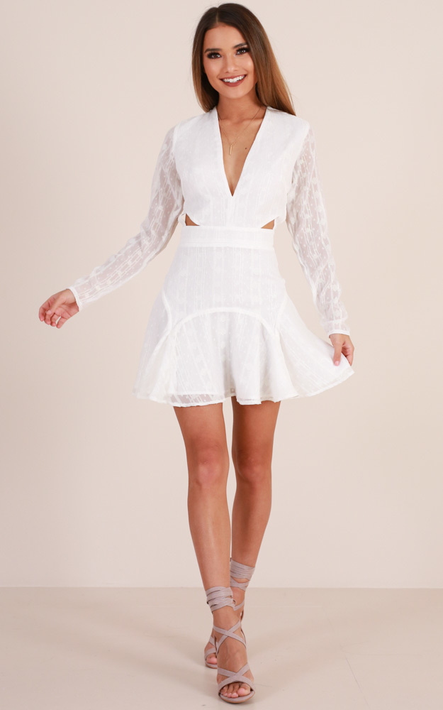 Love Stoned Dress in White - 14 (XL), White, hi-res image number null