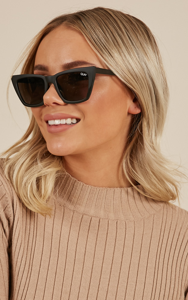 Quay - Dont @ Me sunglasses in black, , hi-res image number null