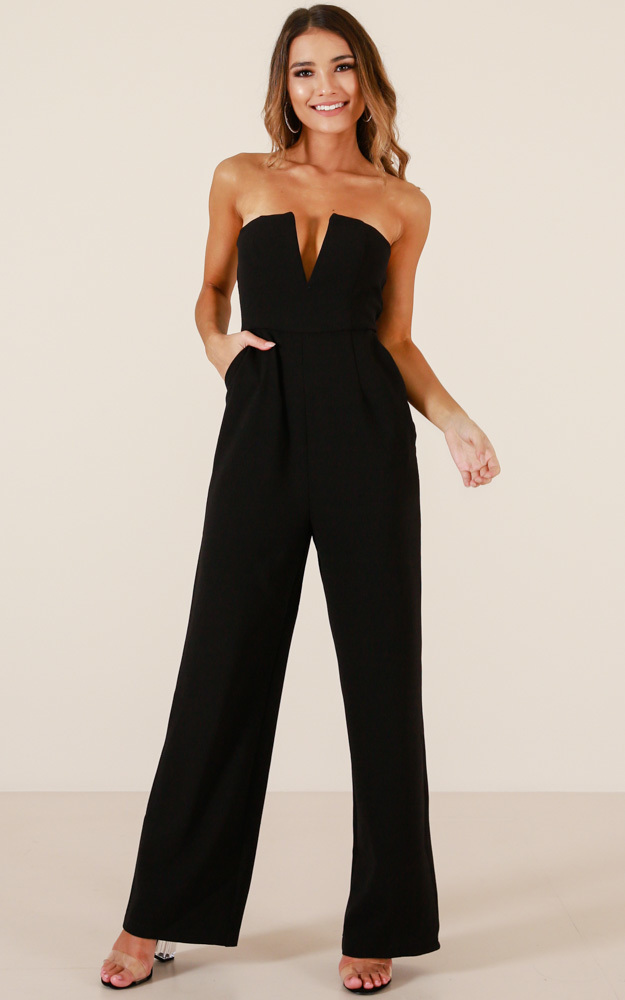 Catching Up jumpsuit in black - 14 (XL), Black, hi-res image number null