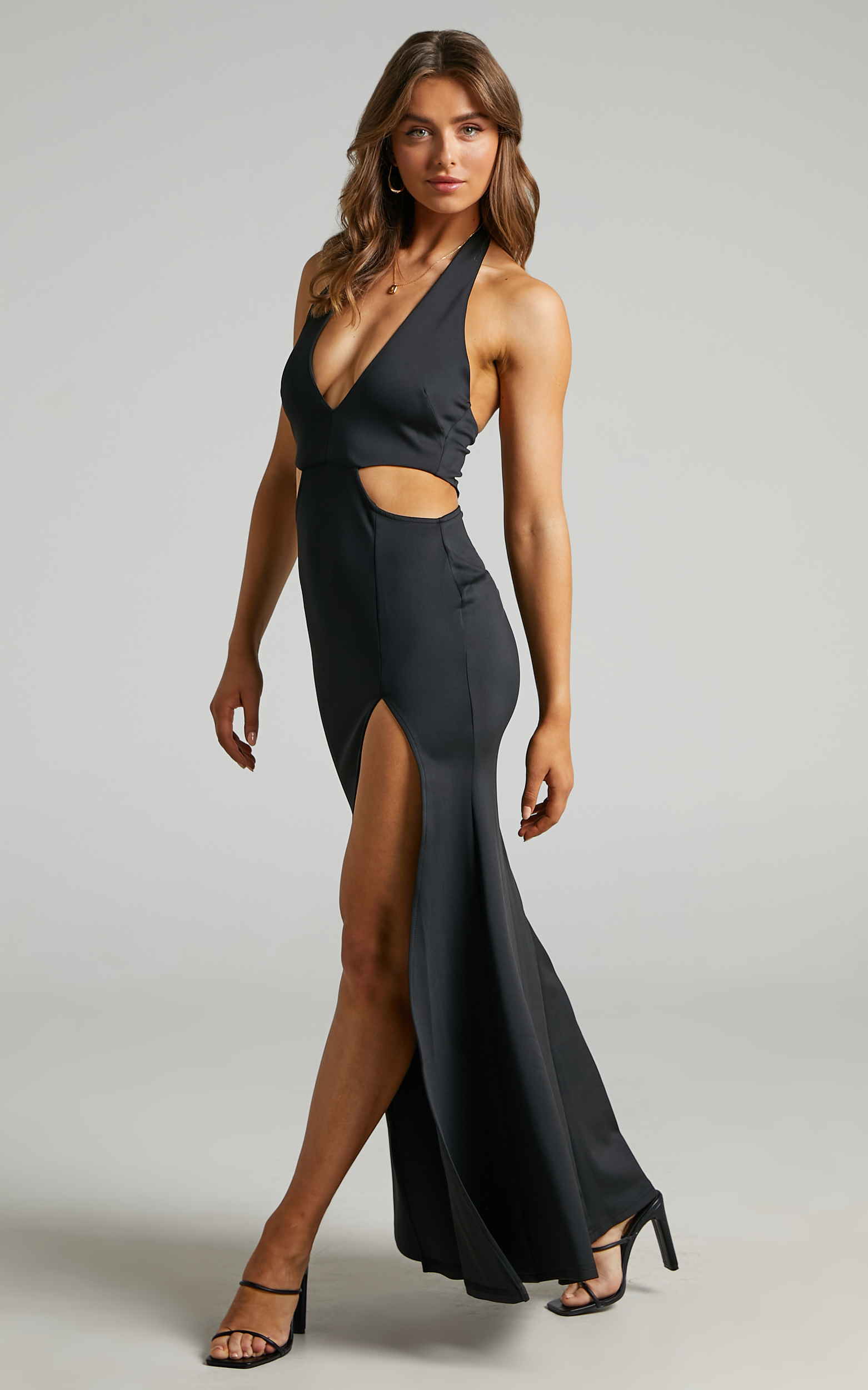 Avery Cut Out Detail Dress in Black - 06, BLK1, hi-res image number null