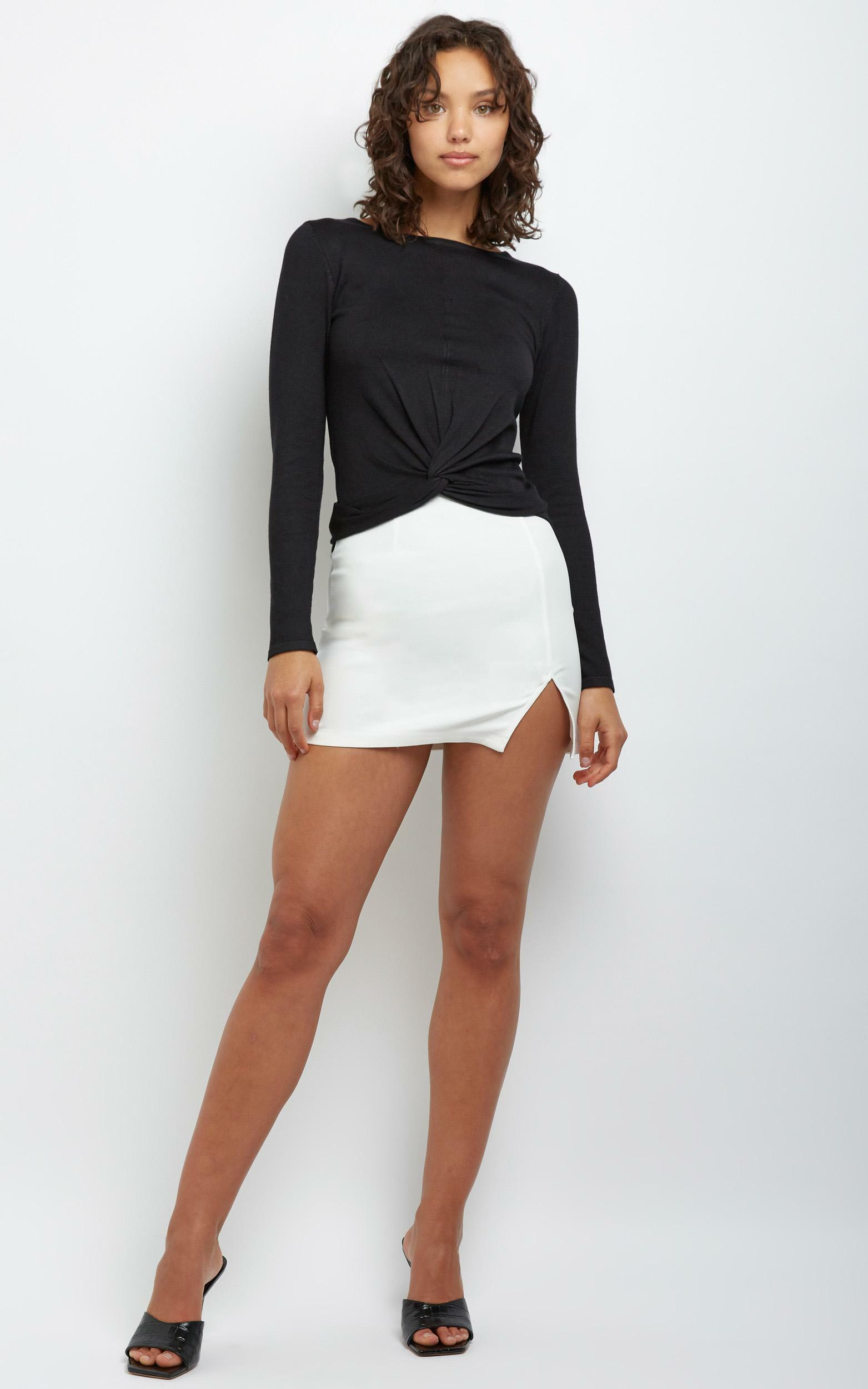 Cydney Skirt in White - 12 (L), White, hi-res image number null