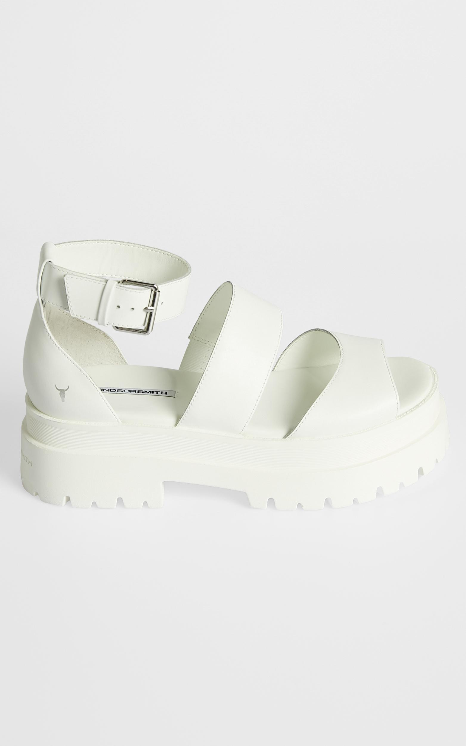 Windsor Smith - Thrilled Sandals in White Leather - 6, White, hi-res image number null