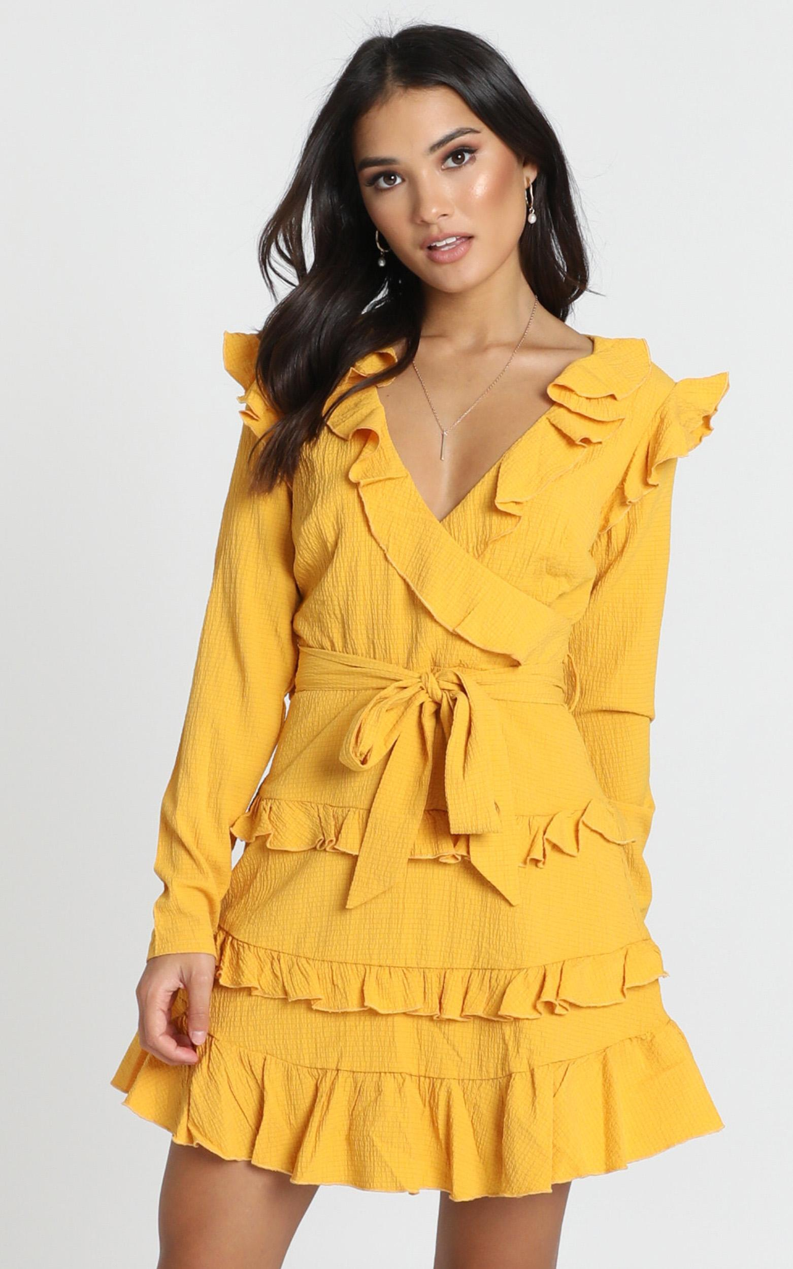 Aria dress in mustard - 6 (XS), Mustard, hi-res image number null