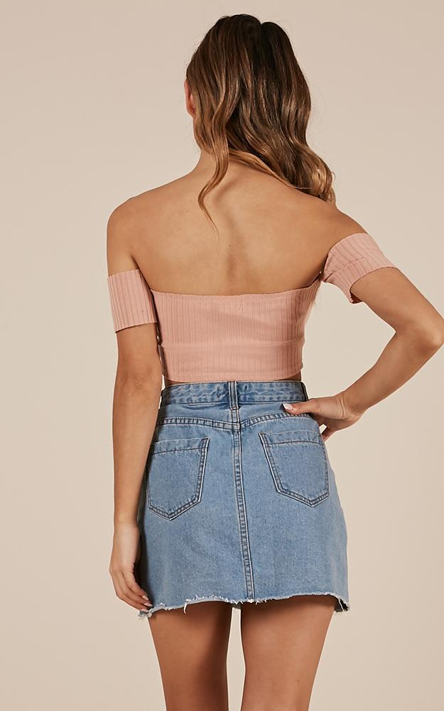 Yes Girl crop top in blush - 6 (XS), Blush, hi-res image number null