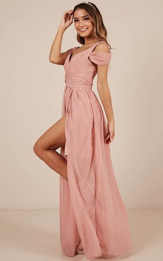 Stand Close dress in blush - 12 (L), Pink, hi-res image number null