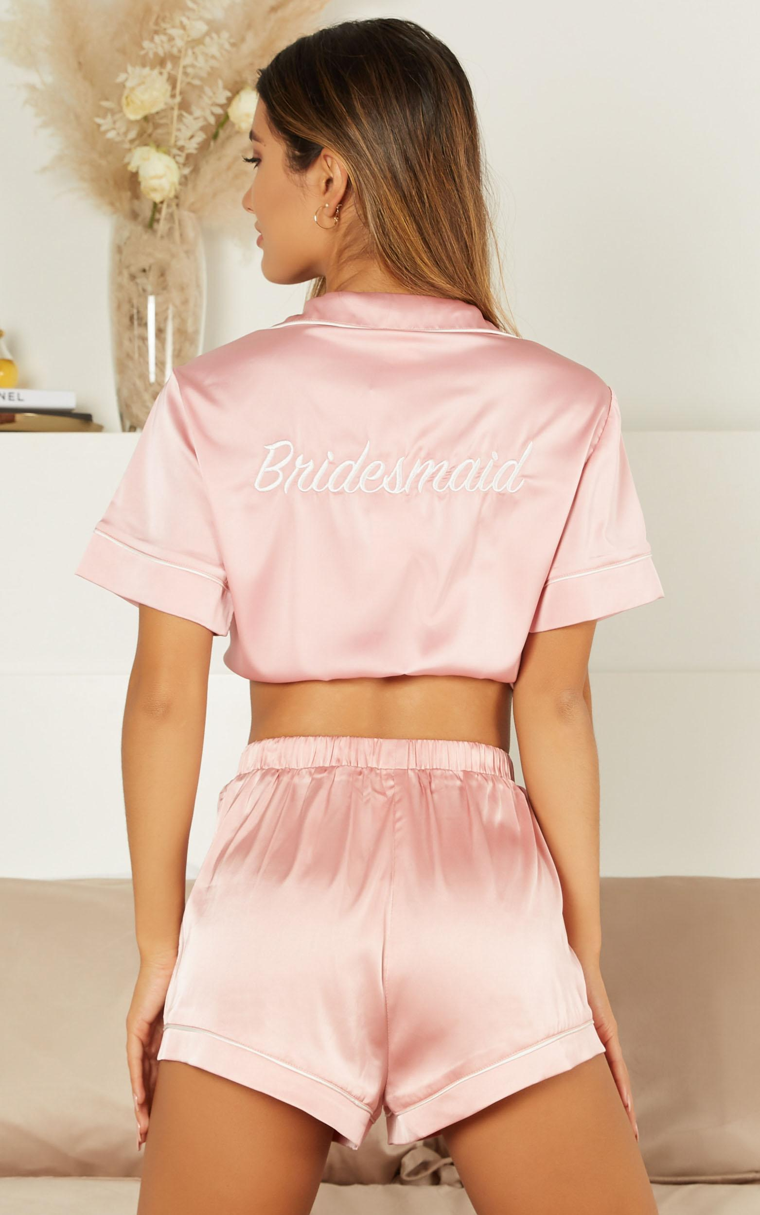 Above the line shorts in blush satin - 14 (XL), Blush, hi-res image number null