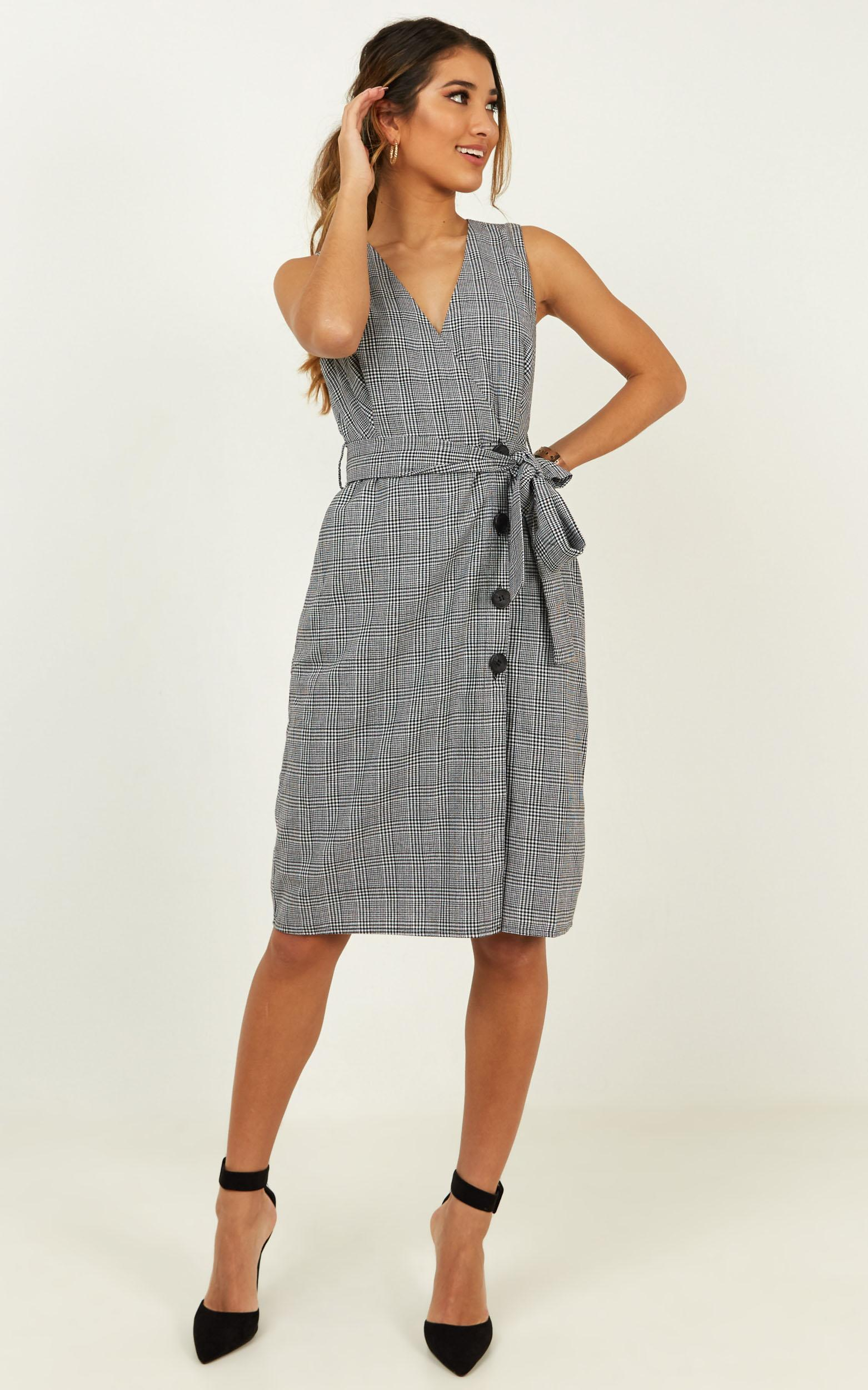 New Project dress in black check - 20 (XXXXL), Black, hi-res image number null