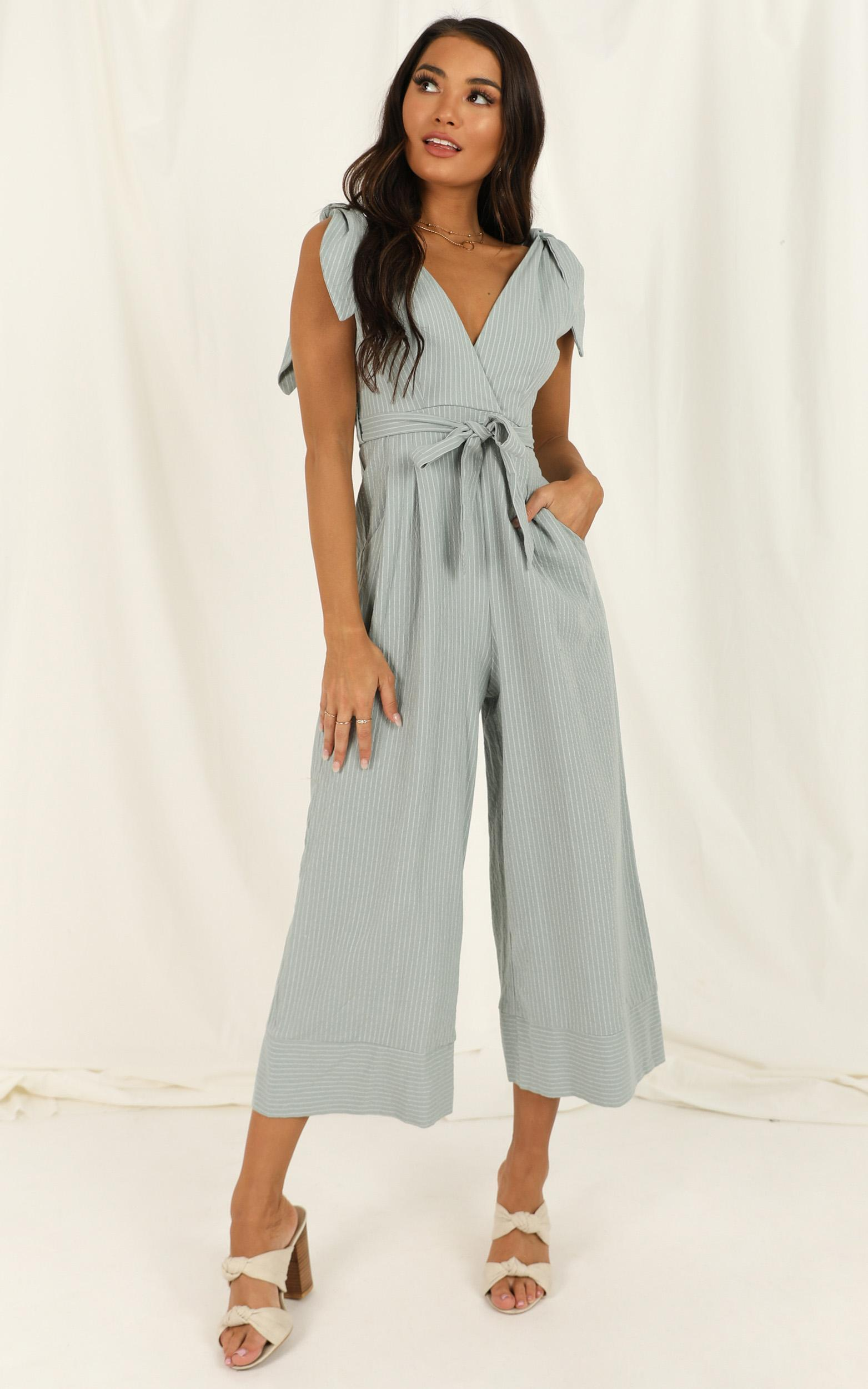Endless Circling Jumpsuit in sage - 20 (XXXXL), Sage, hi-res image number null