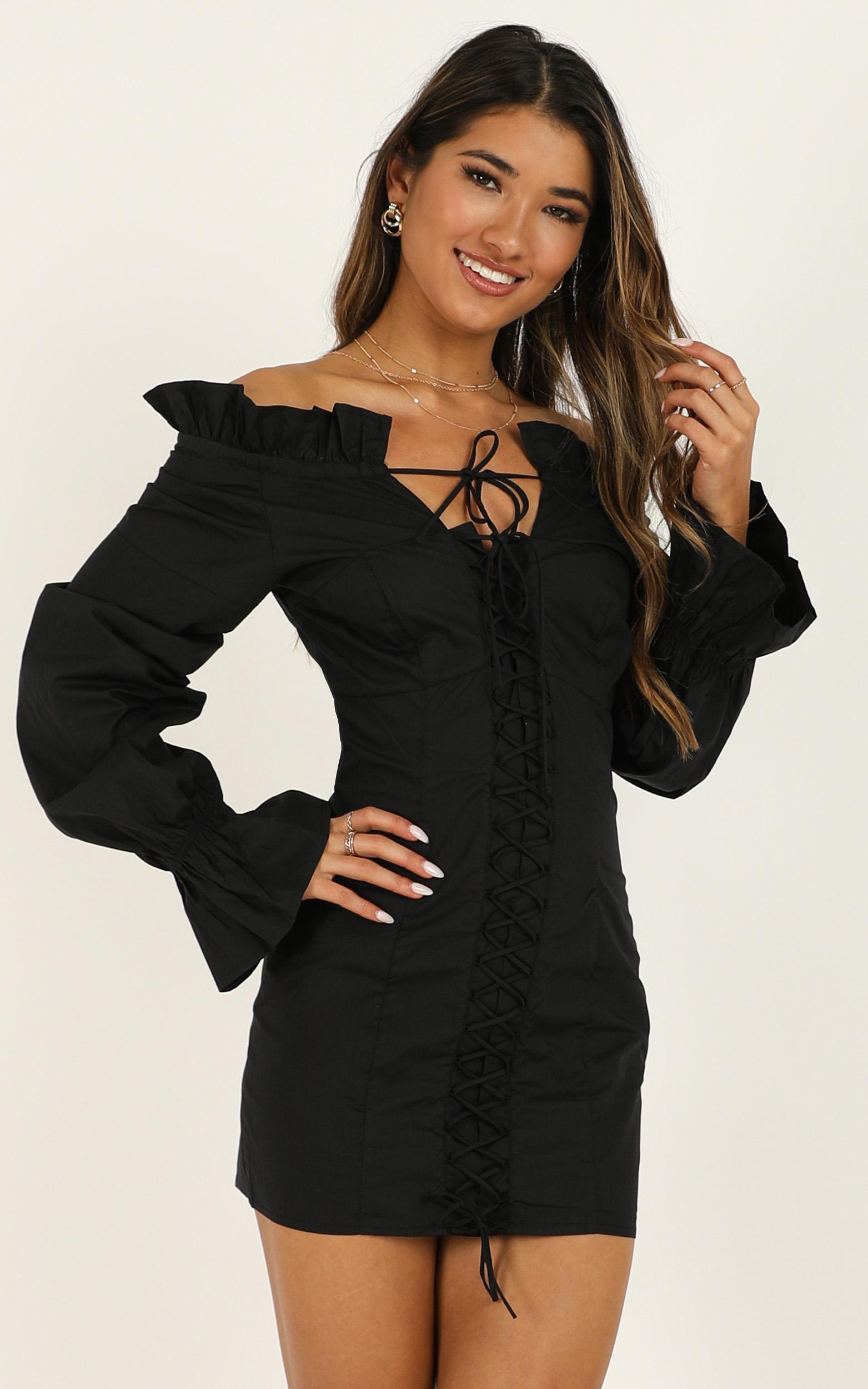 Lioness - Highway Skyline Dress In Black- 12 (L), Black, hi-res image number null