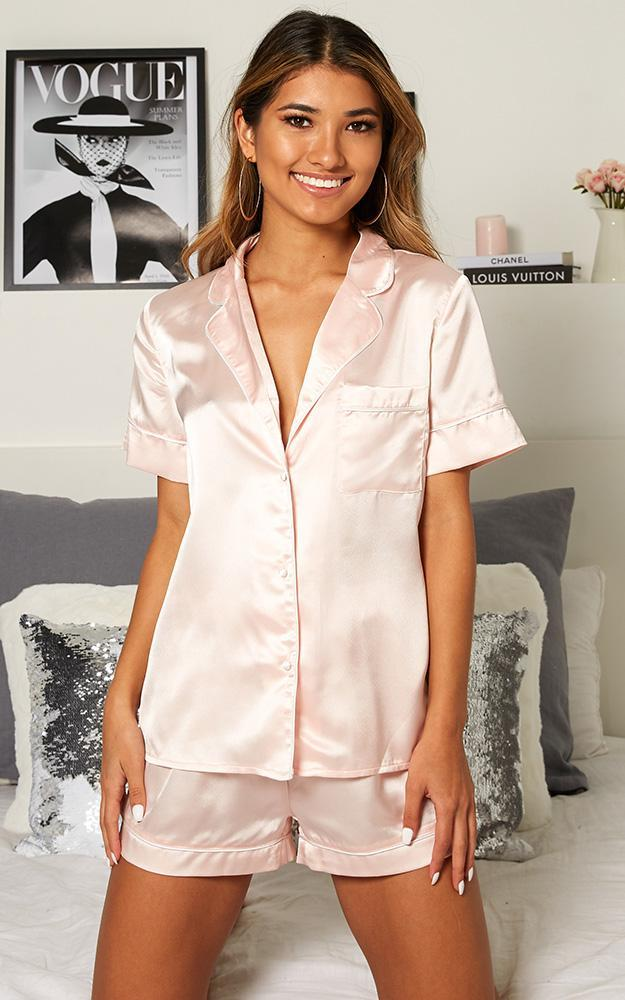 Sleep All Day Top in Blush Satin - 08, PNK2, hi-res image number null