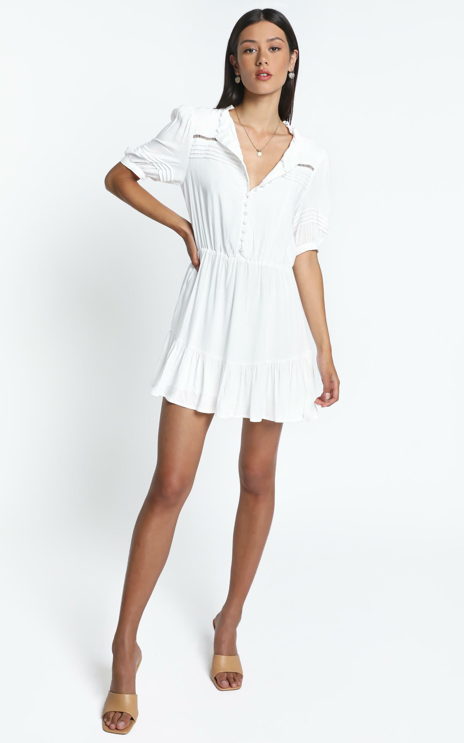 Mahalia Dress in White - 14 (XL), White, hi-res image number null