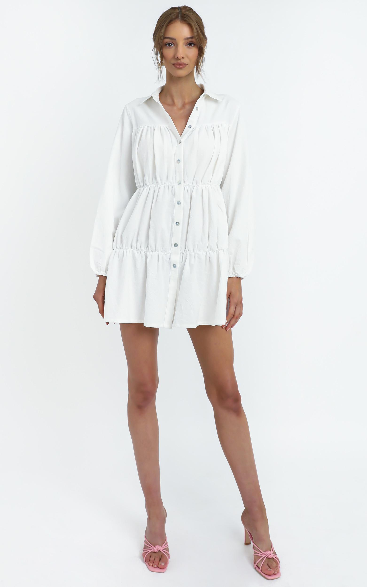 Abhy Dress in White - 14 (XL), White, hi-res image number null