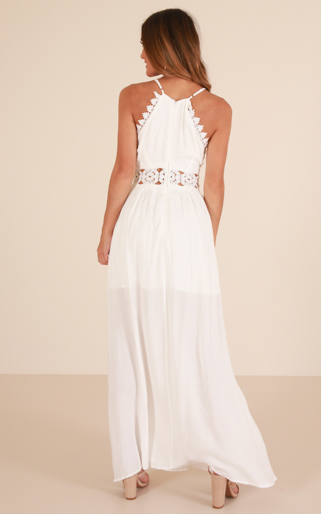 Young Melody maxi dress in white - 14 (XL), White, hi-res image number null