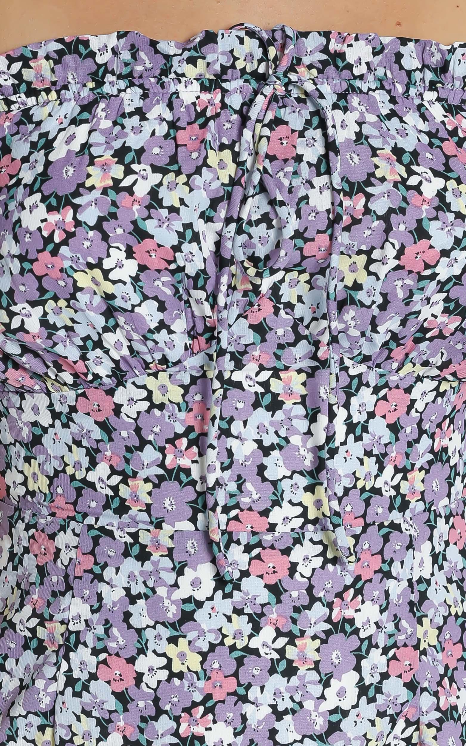 Cherish Dress in Purple Floral - 6 (XS), Purple, hi-res image number null
