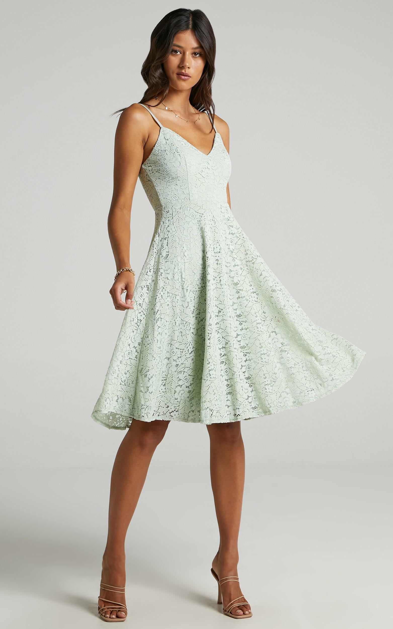 Far Beyond Dress in sage lace - 20 (XXXXL), Sage, hi-res image number null