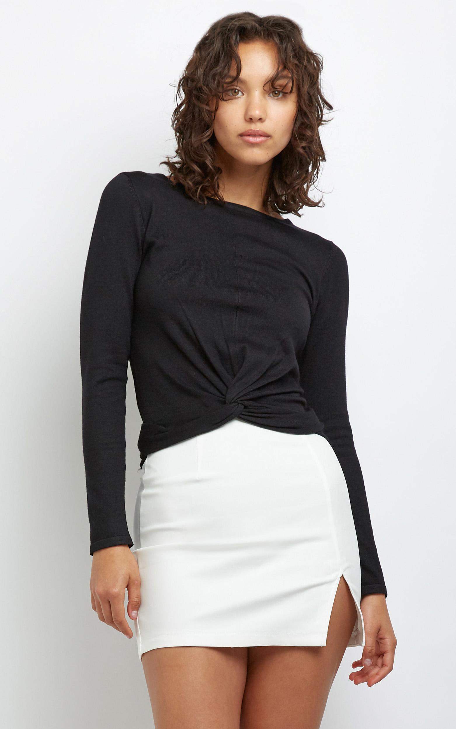 Shanay Knit in Black - 14 (XL), Black, hi-res image number null