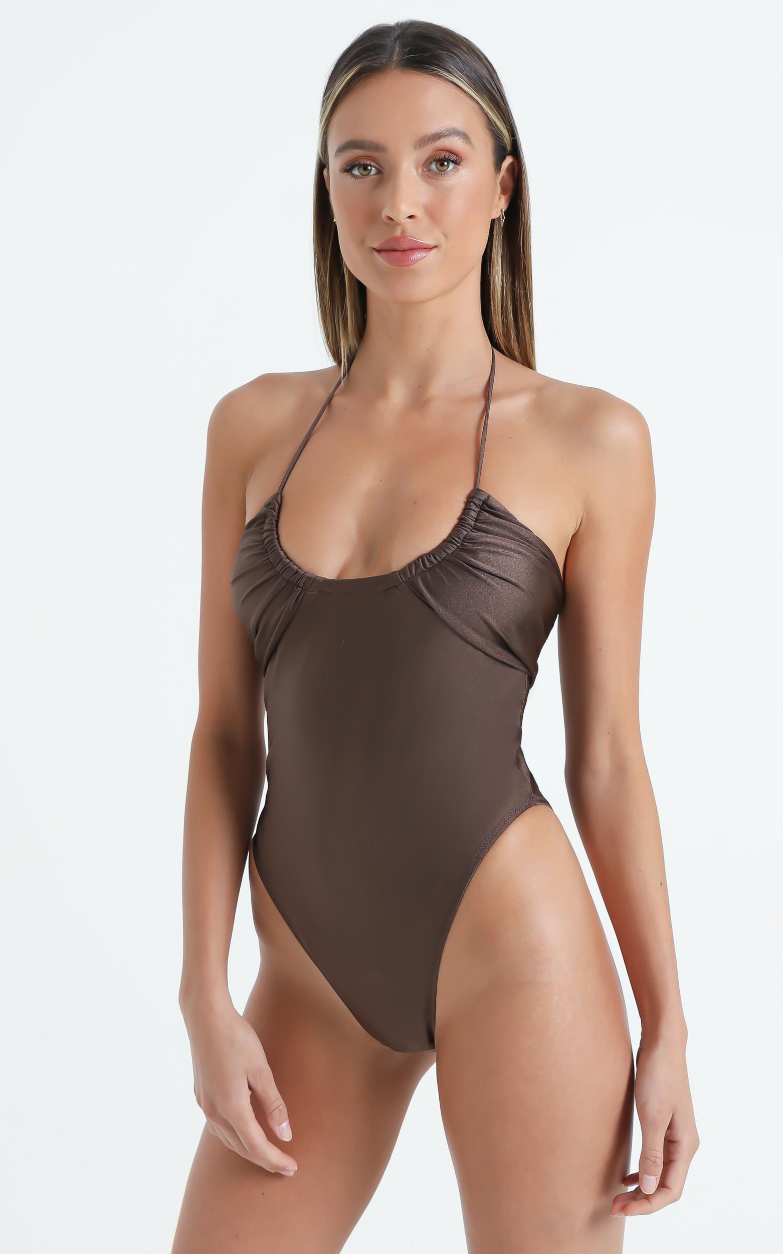 Lioness - The Aleisha One Piece in Brown - XS, Brown, hi-res image number null
