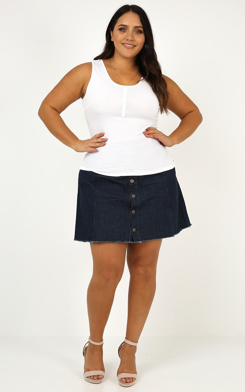 Cool Winds Top In White - 20 (XXXXL), White, hi-res image number null