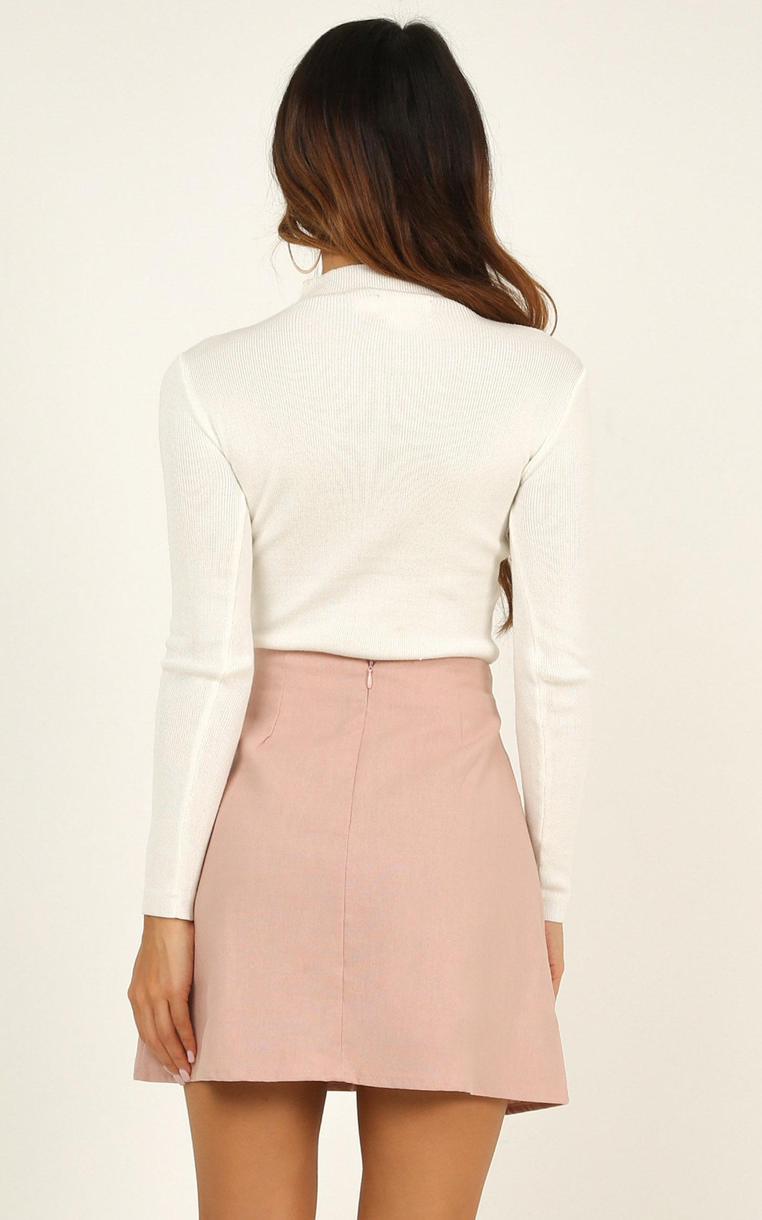 How About It skirt in blush linen look - 20 (XXXXL), Blush, hi-res image number null