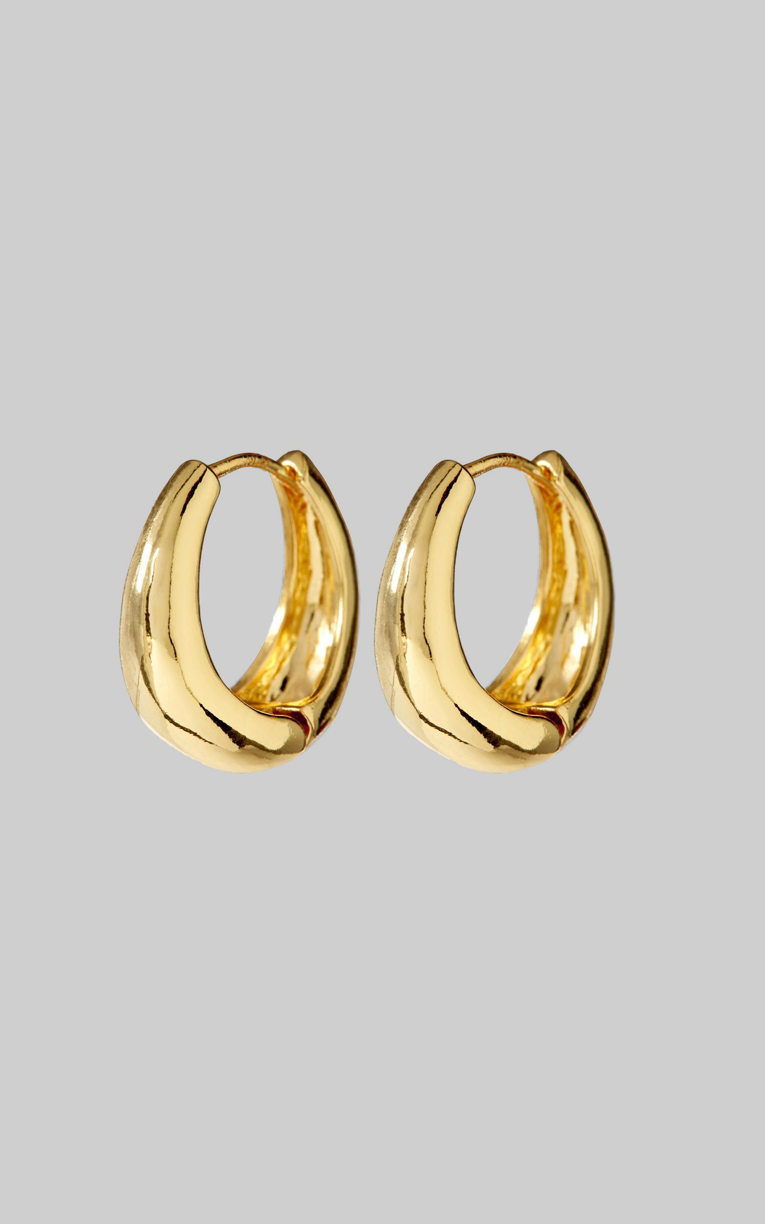 Luv AJ - The Marbella Hoops in  Gold, , hi-res image number null