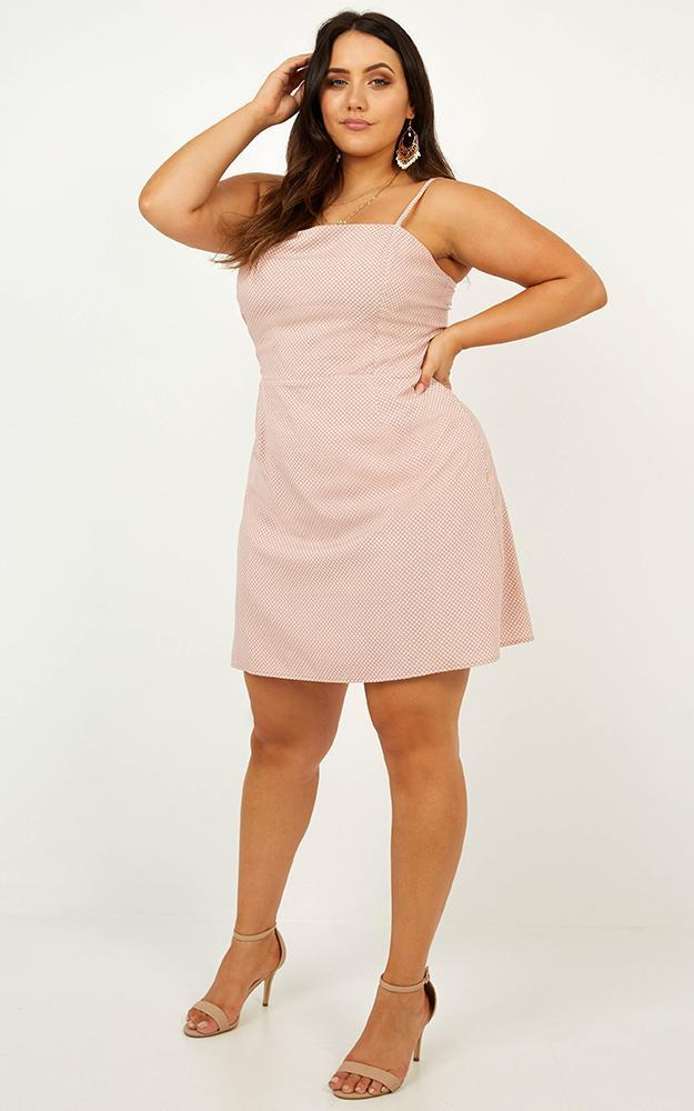 As I Say Dress in blush spot - 20 (XXXXL), Blush, hi-res image number null