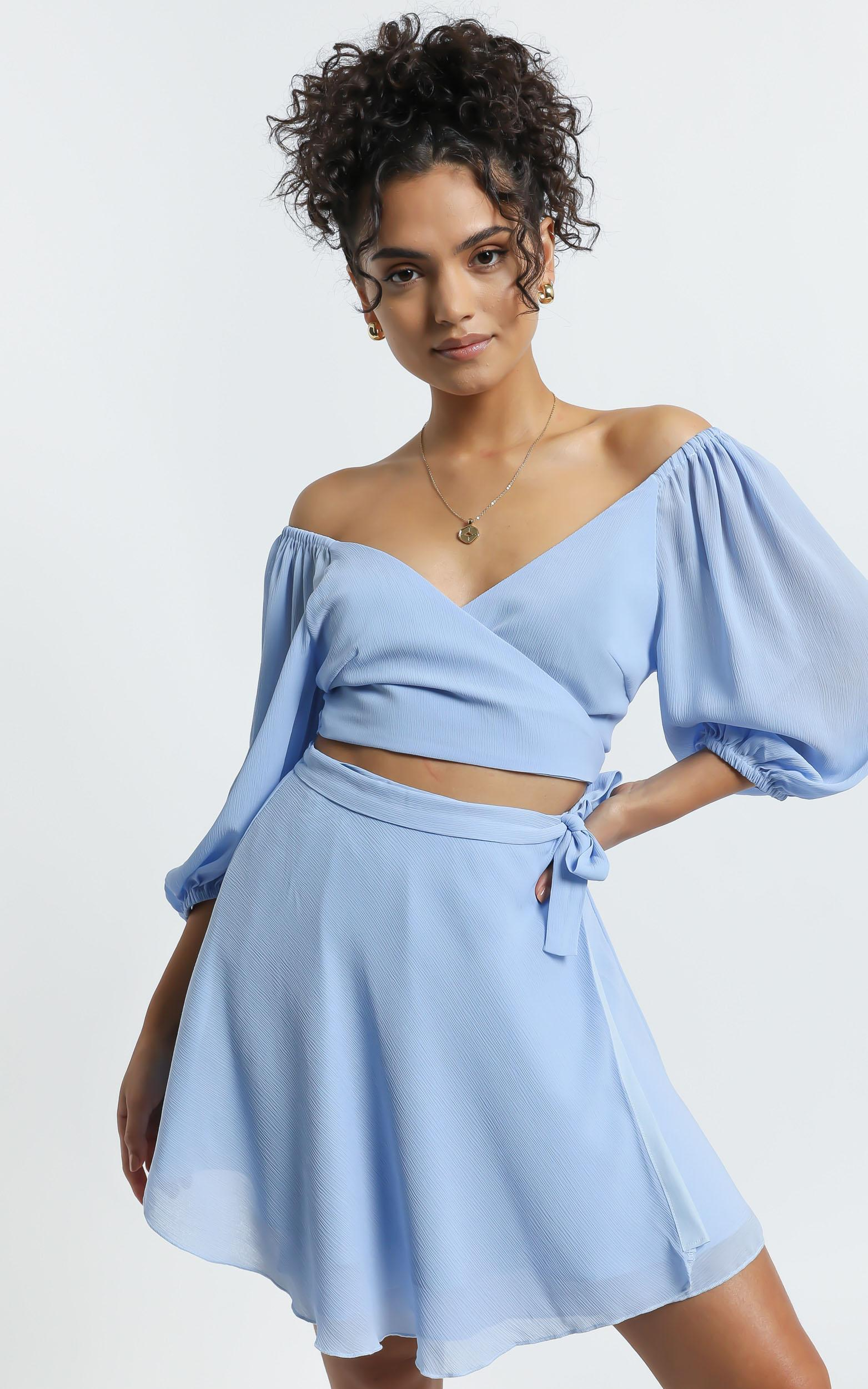Jadey Two Piece Set in Blue - 6 (XS), Blue, hi-res image number null