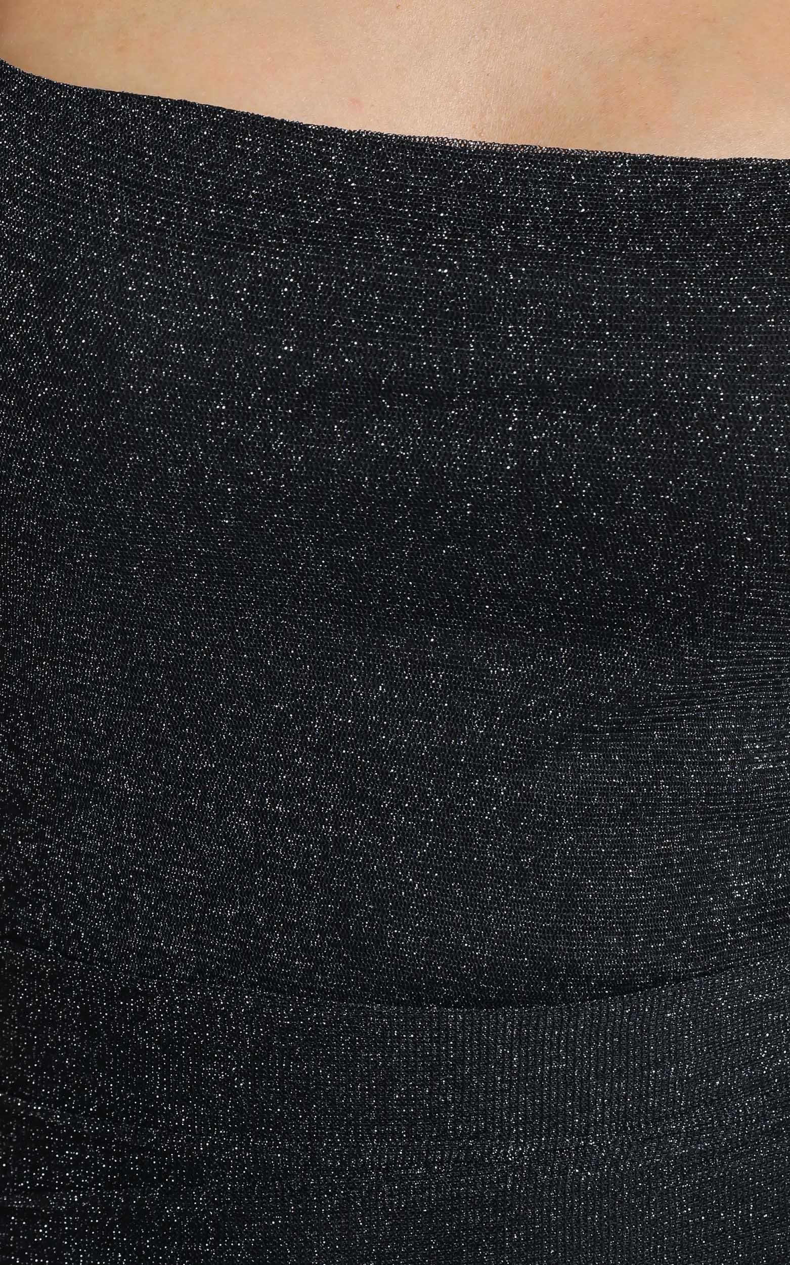 Time stands still dress in black mesh lurex - 20 (XXXXL), Black, hi-res image number null