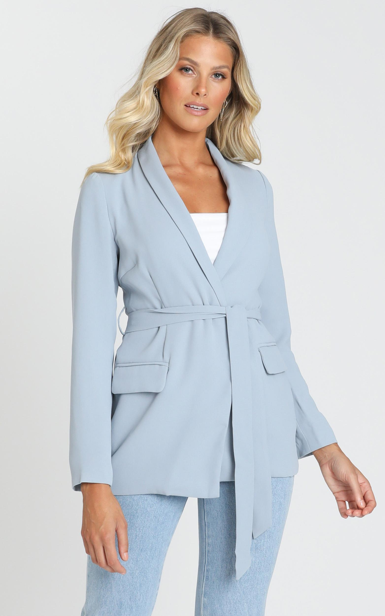 Action Needed Blazer in powder blue - 14 (XL), Blue, hi-res image number null
