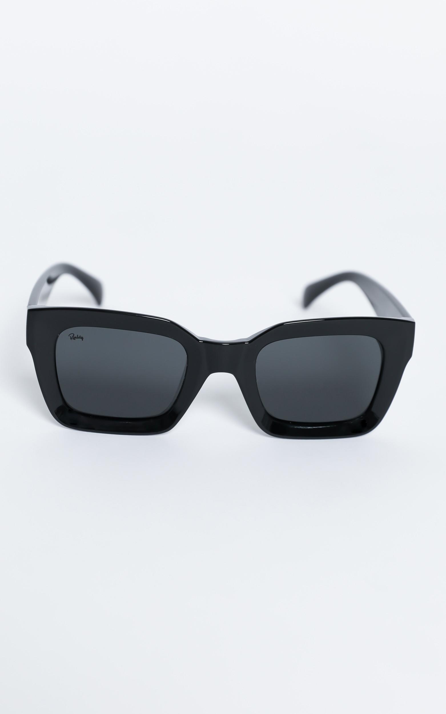 Reality Eyewear - Onassis Sunglasses in Black, Black, hi-res image number null