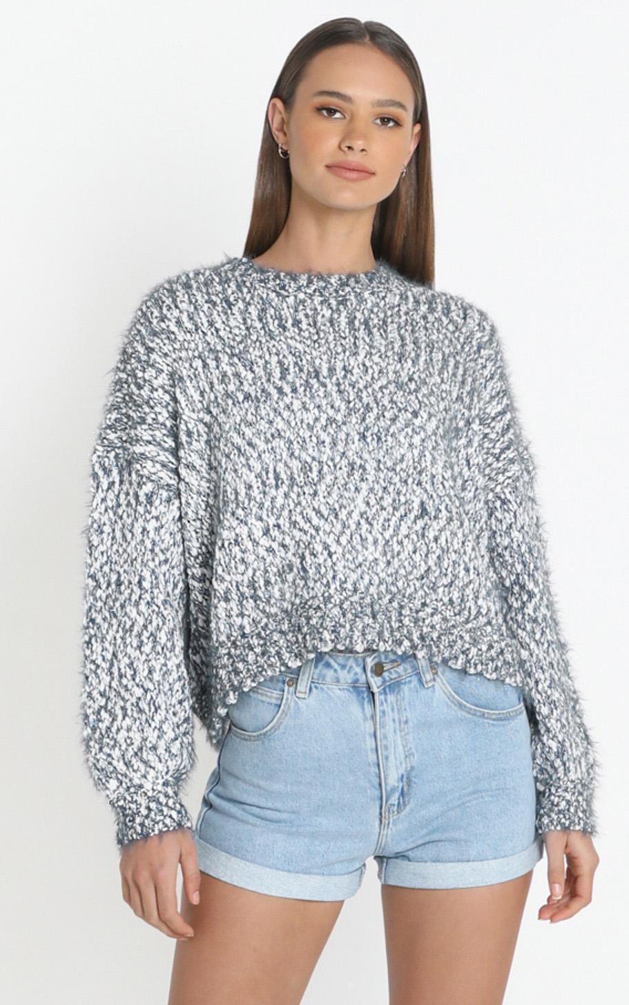Gwyneth Jumper in Grey Marle  - M/L, Grey, hi-res image number null
