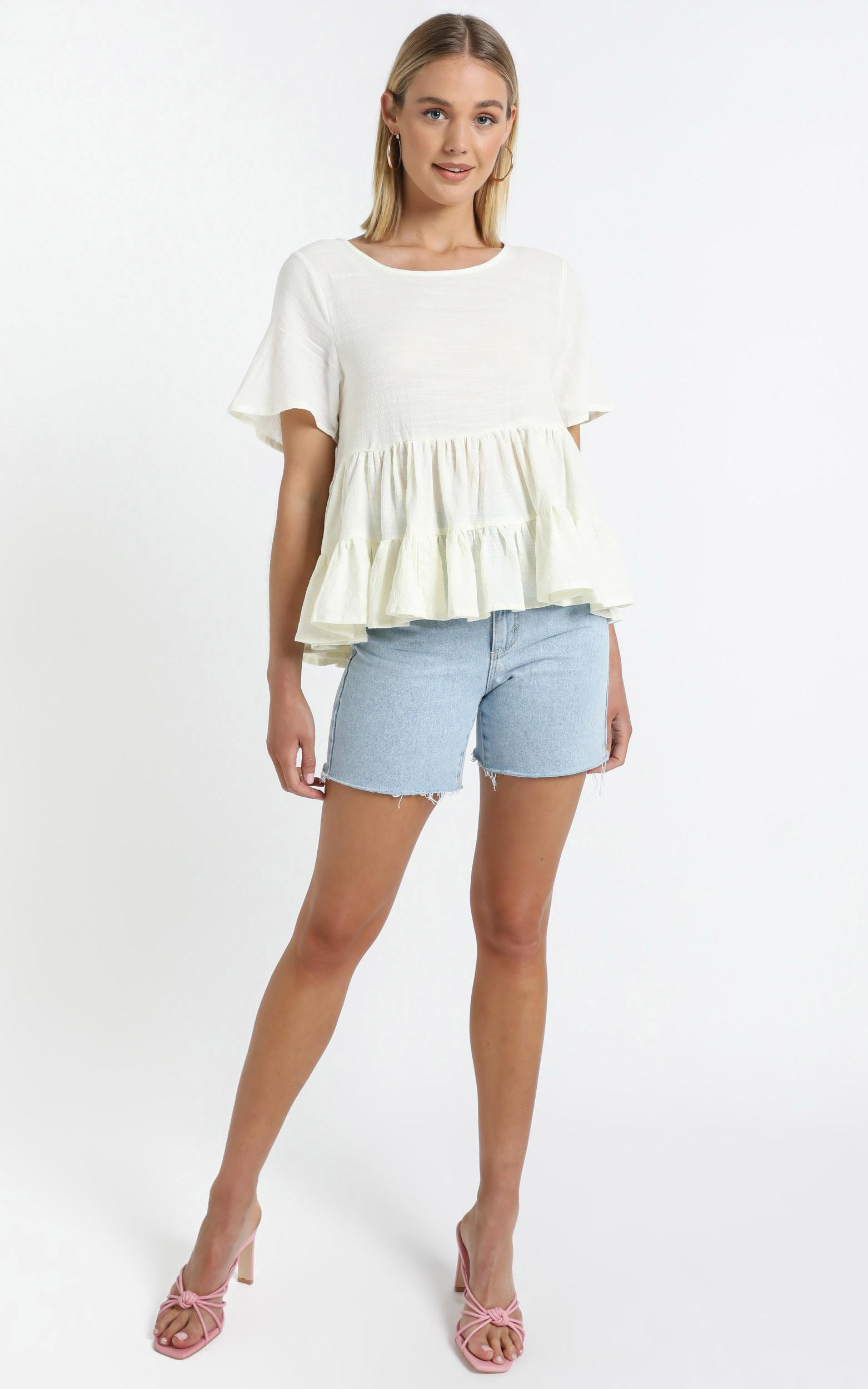Crush On You Top in White - 14 (XL), White, hi-res image number null