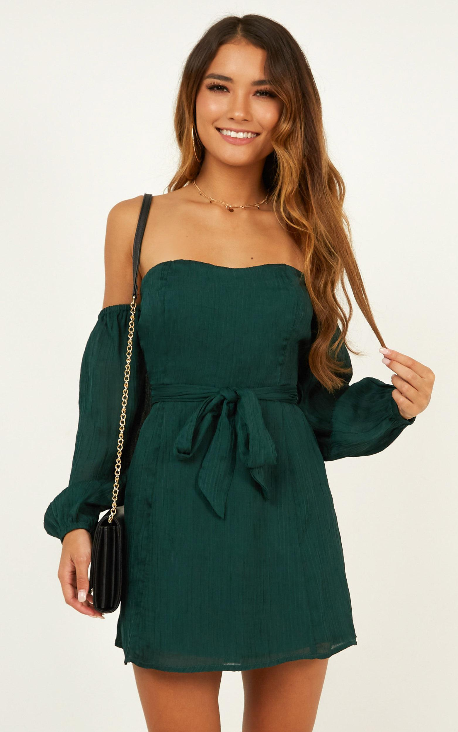 Steaming Ahead Dress in emerald - 20 (XXXXL), Green, hi-res image number null