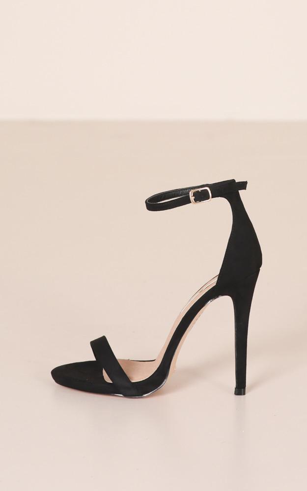 Billini - Della Heels in black micro - 10, Black, hi-res image number null