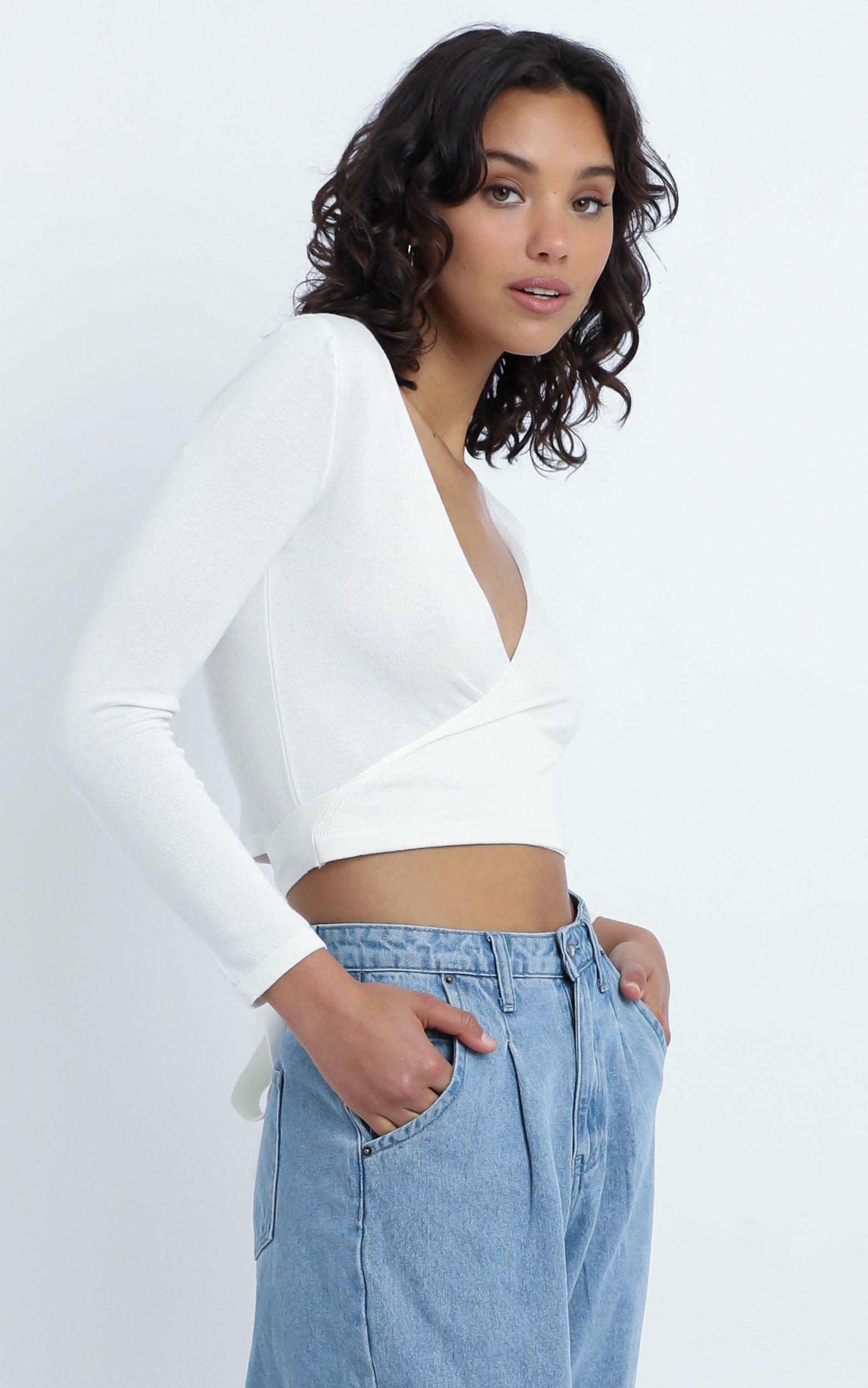 Vaughn Knit Top in  White - 12 (L), White, hi-res image number null