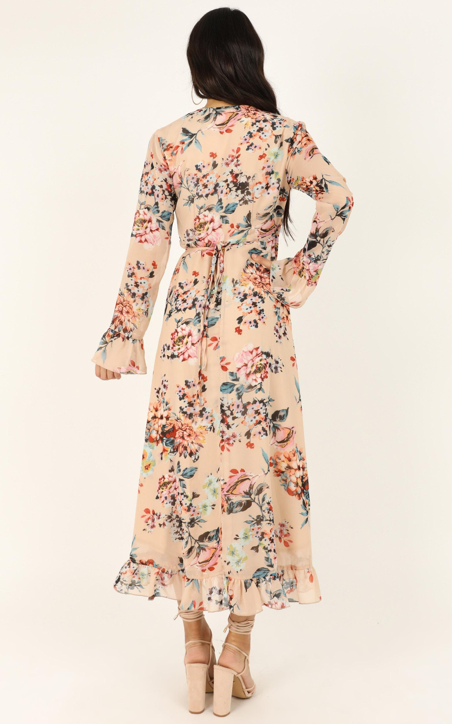 Can I Call You Dress In Blush Floral - 4 (XXS), Blush, hi-res image number null