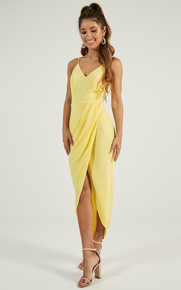 Lucky Day maxi dress in lemon - 4 (XXS), Yellow, hi-res image number null