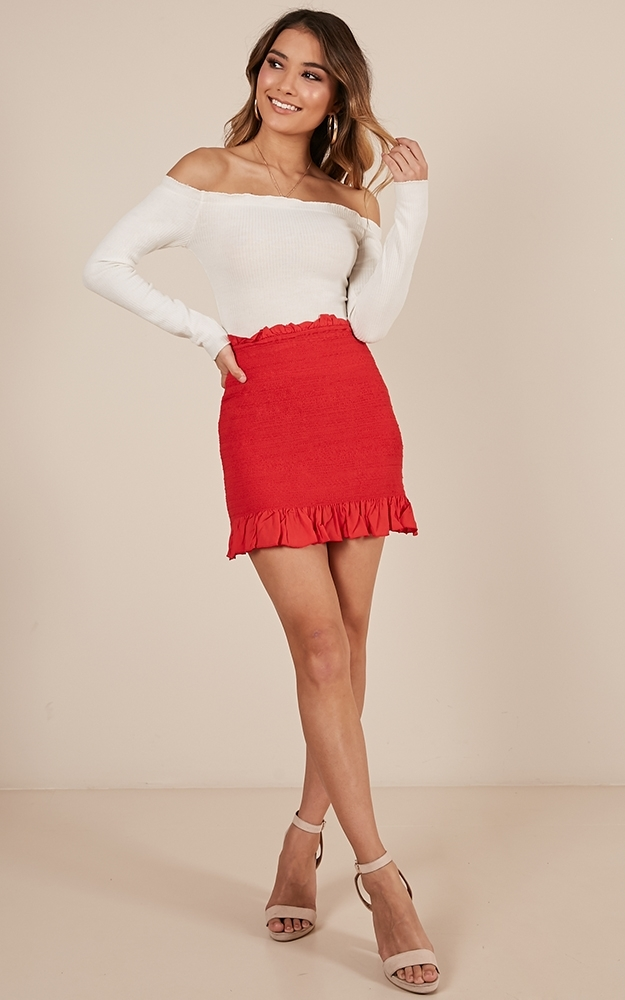 Young Blood skirt in red - 12 (L), Red, hi-res image number null