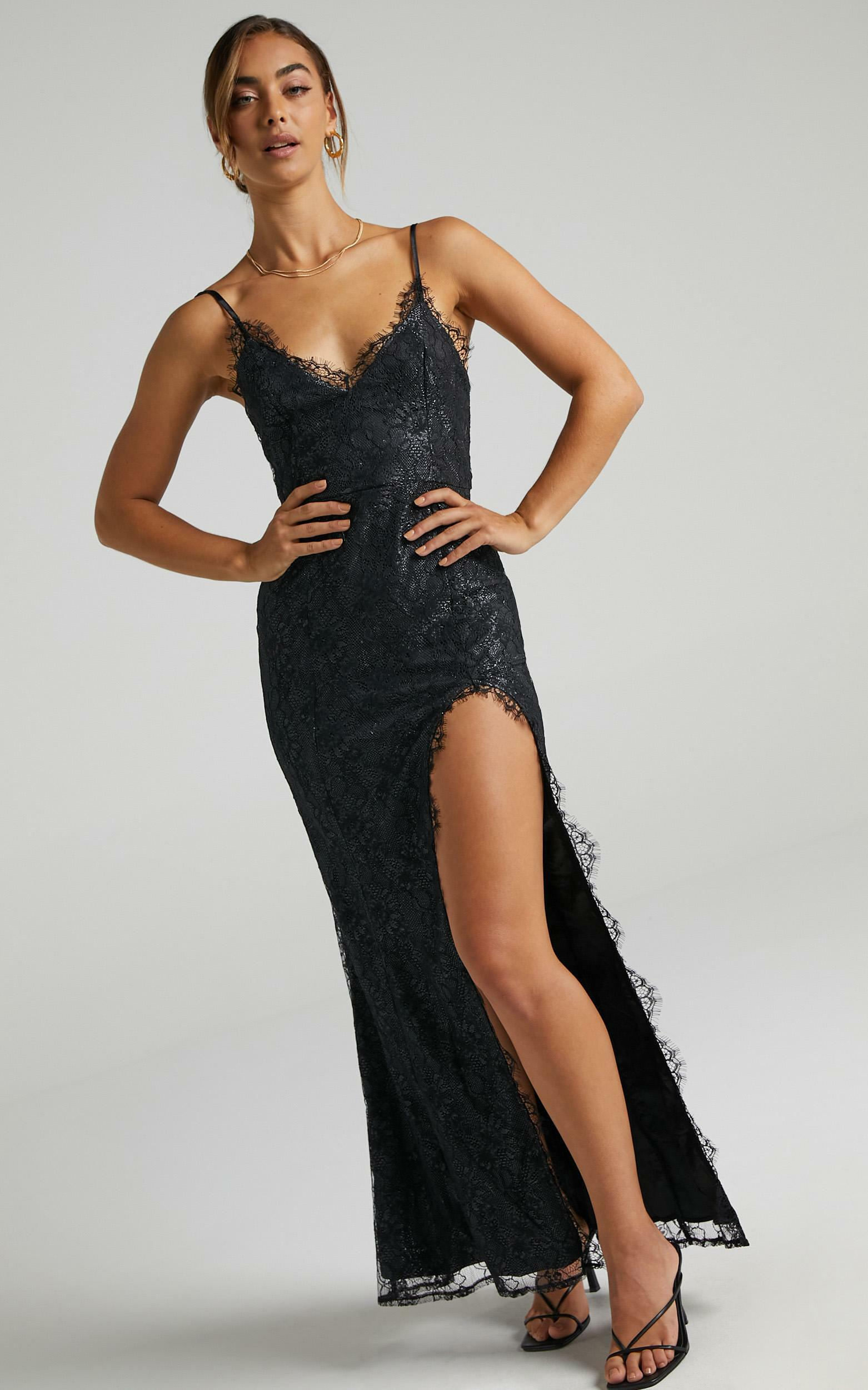Stay Flow Dress in Black Lace - 20, BLK1, hi-res image number null