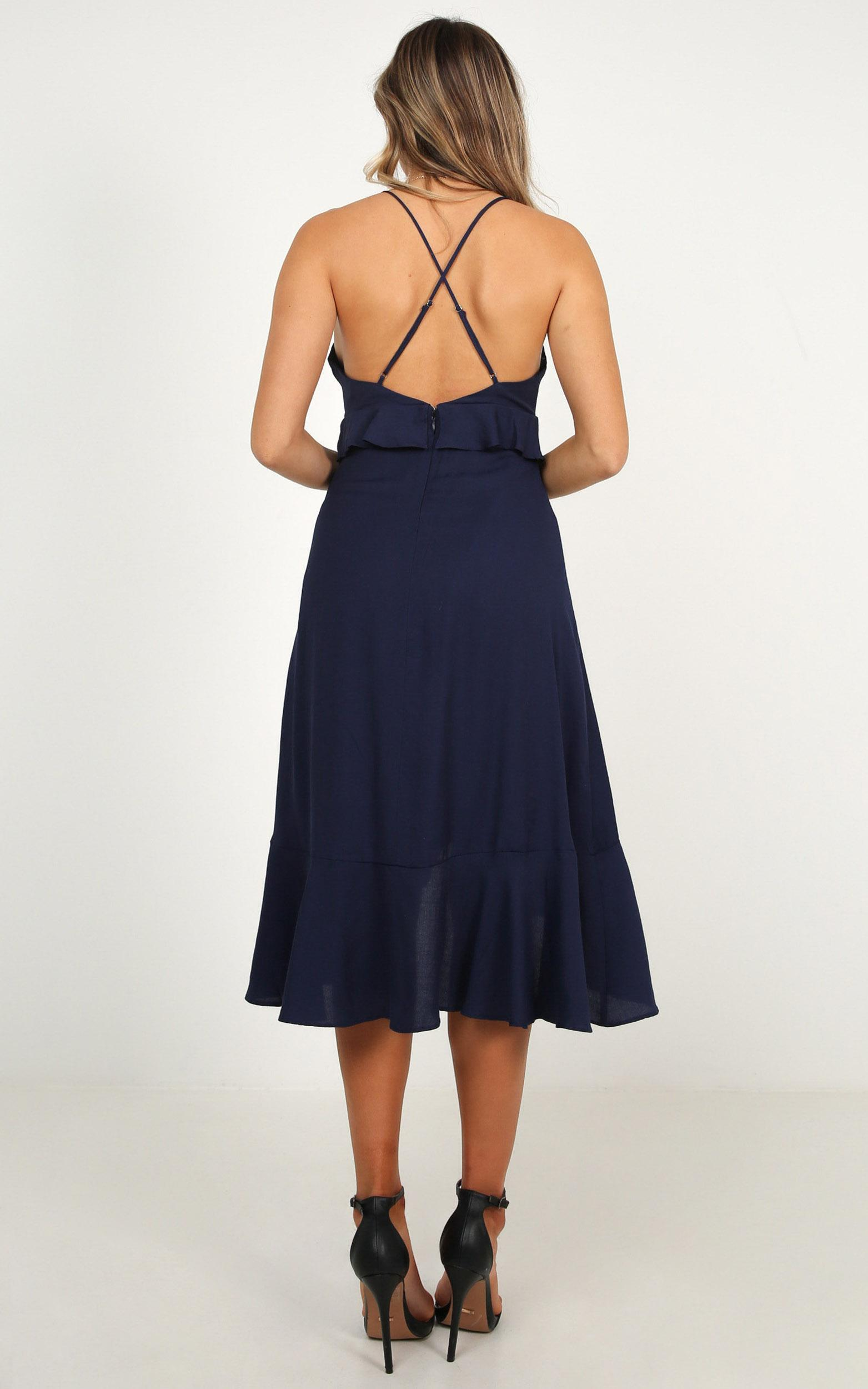 Set The Mood dress in navy - 12 (L), Navy, hi-res image number null