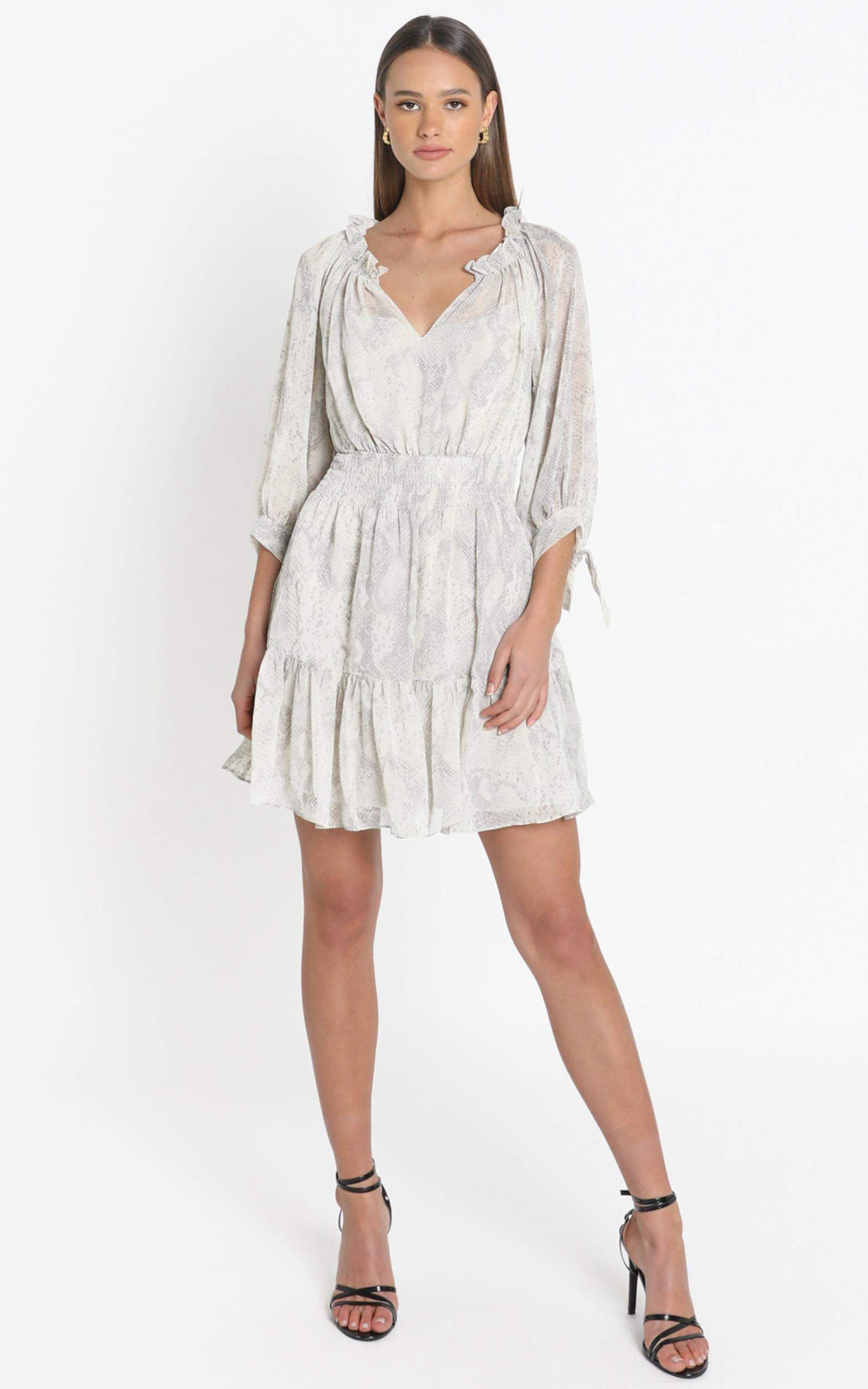 Janice Dress in white - 8 (S), White, hi-res image number null
