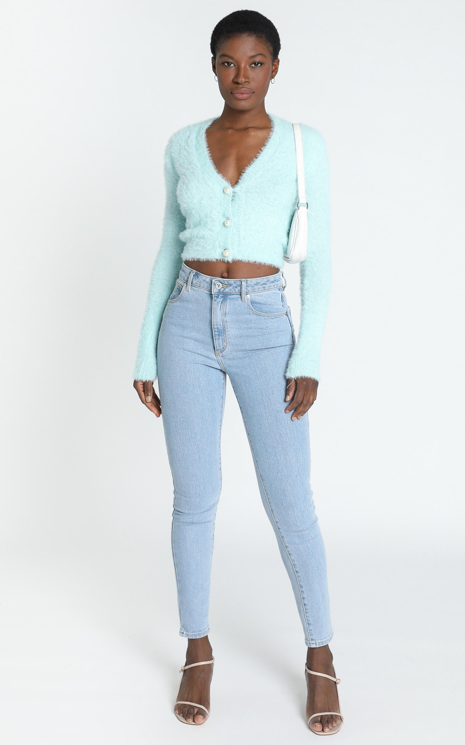 Vegas Baby Knit Top in Ice Blue- 20 (XXXXL), Blue, hi-res image number null