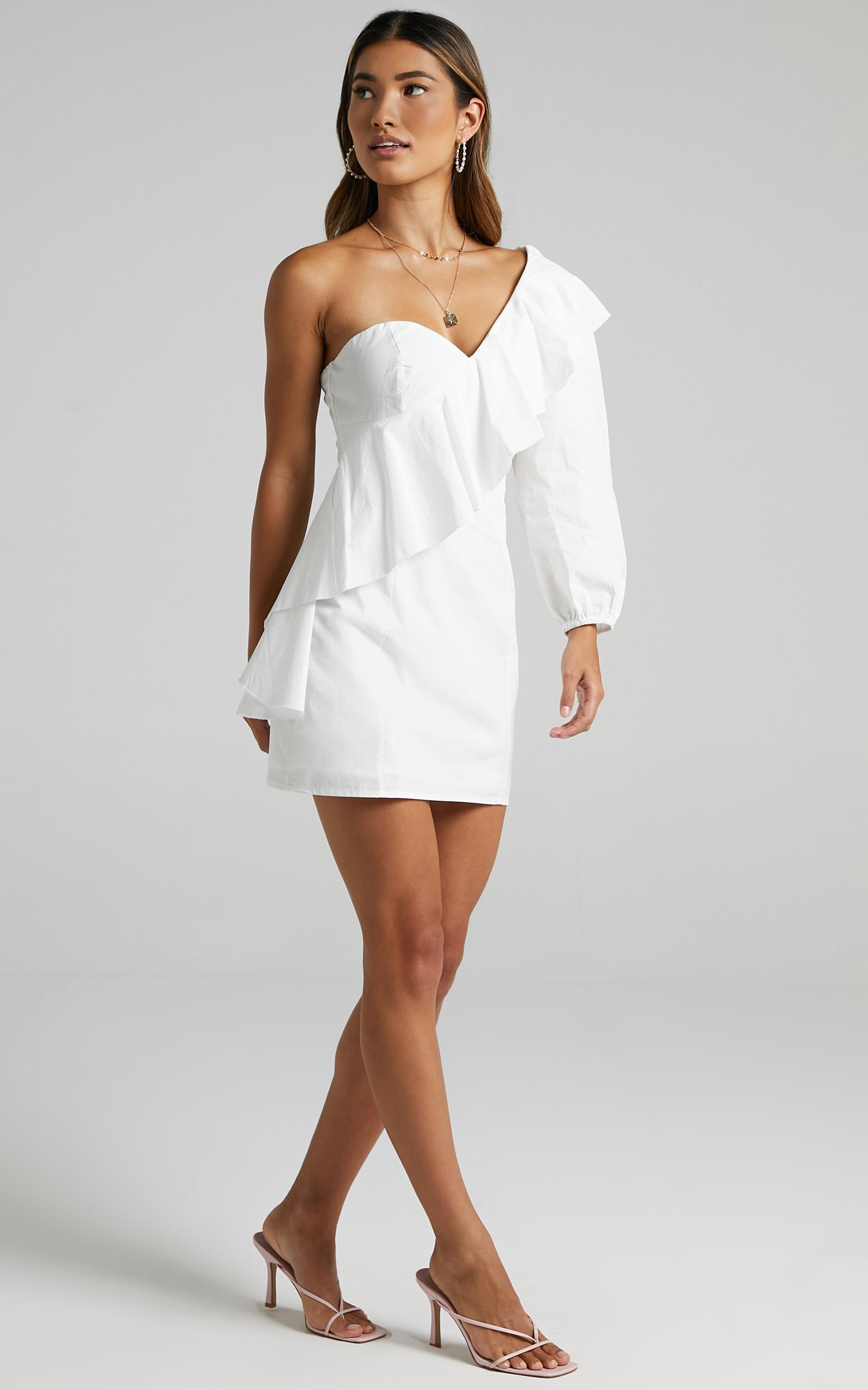 Nathaira Dress in White - 6 (XS), White, hi-res image number null