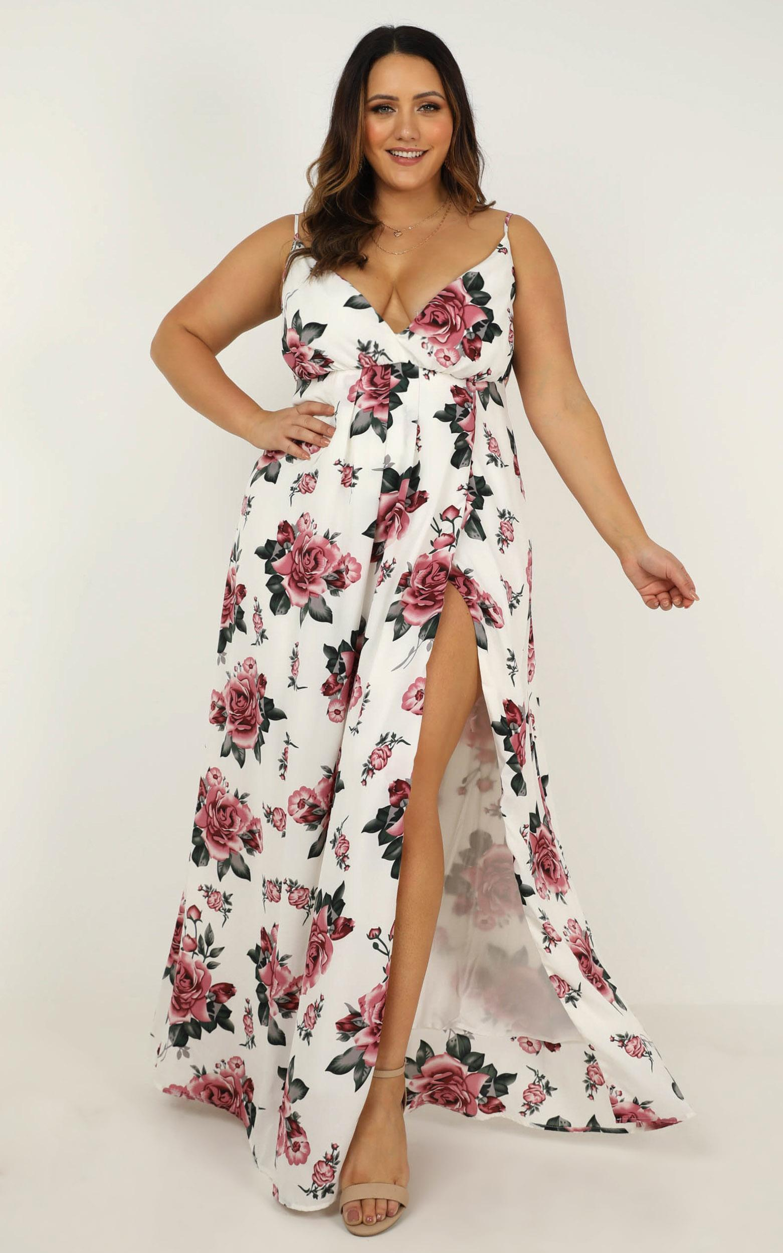 Best Way I Know Dress in white floral - 20 (XXXXL), White, hi-res image number null