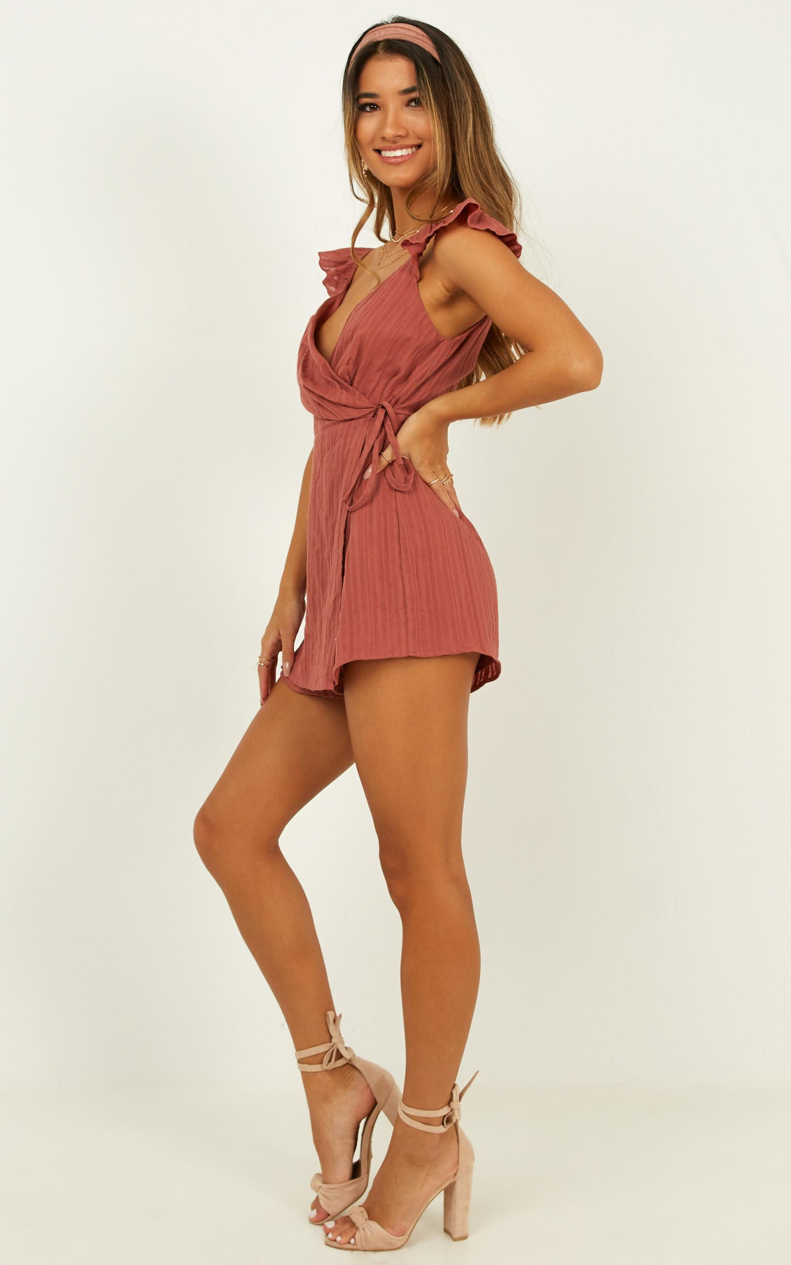 Travel Addict Playsuit in dusty rose - 20 (XXXXL), Pink, hi-res image number null