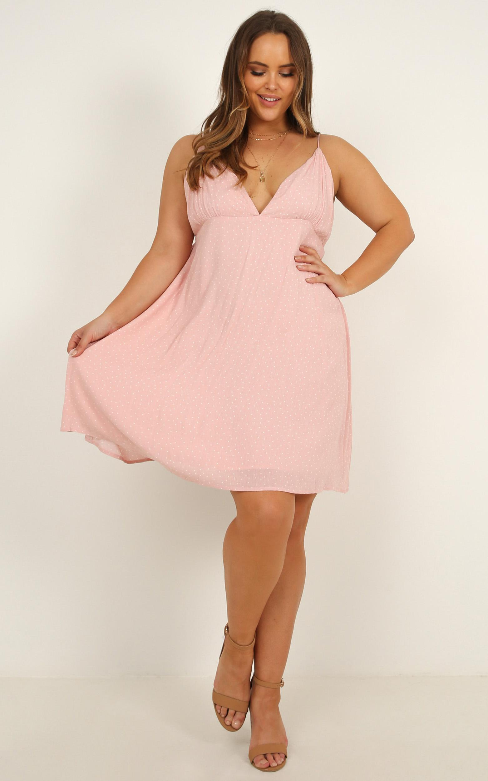 Special Mention Dress in blush spot - 20 (XXXXL), Blush, hi-res image number null