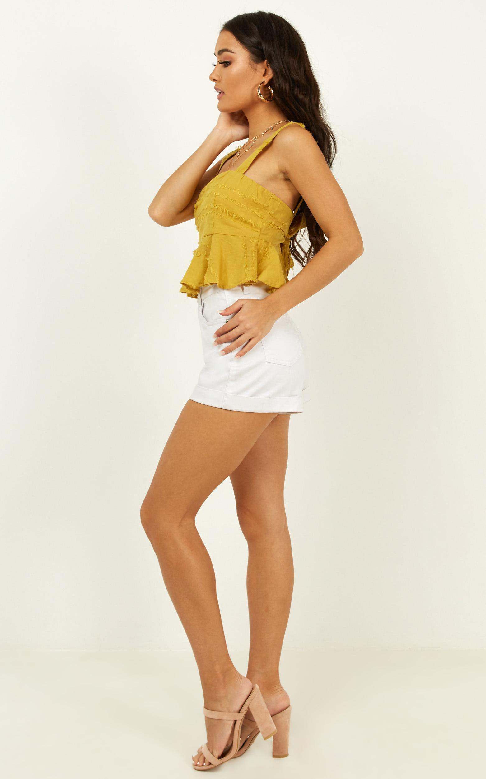 Not All Love top in mustard - 12 (L), Mustard, hi-res image number null