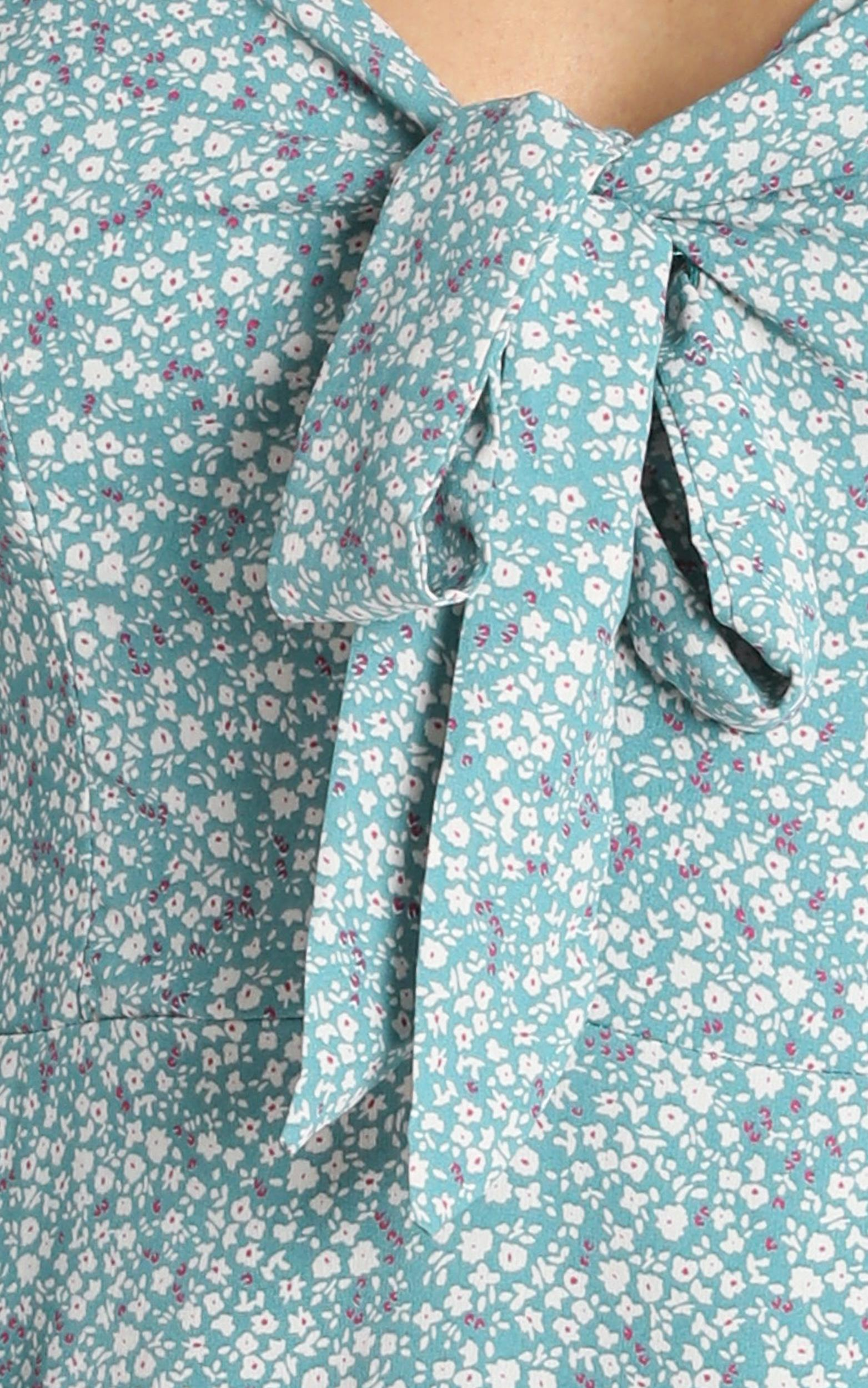 Shannan Dress in Blue Floral - 6 (XS), Blue, hi-res image number null